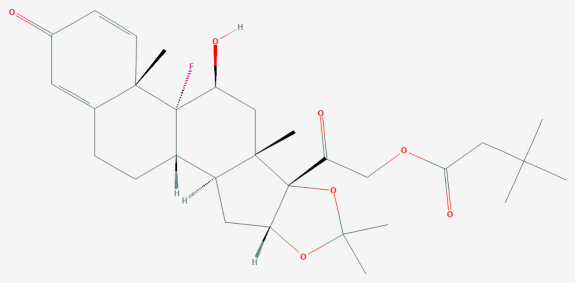 Triamcinolonhexacetonid (Strukturformel)