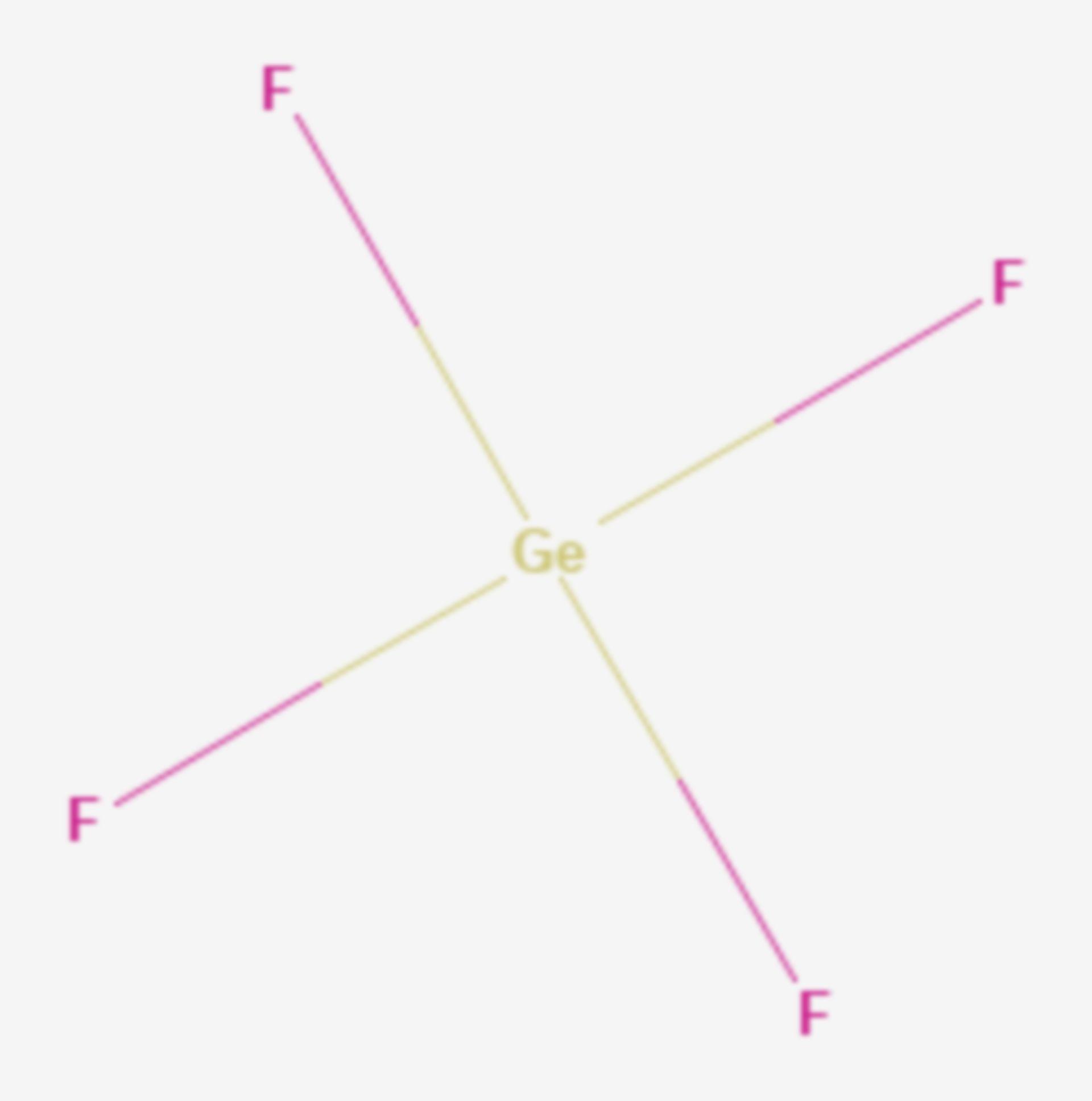 Germanium(IV)-fluorid (Strukturformel)