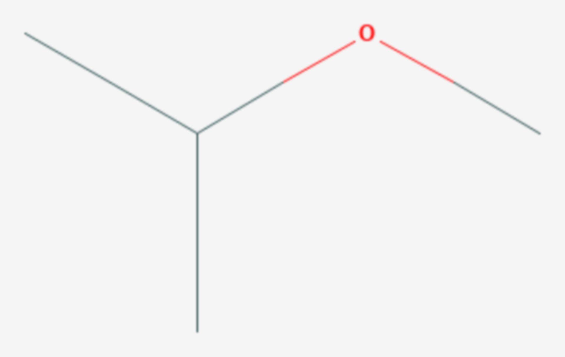 Methylisopropylether (Strukturformel)