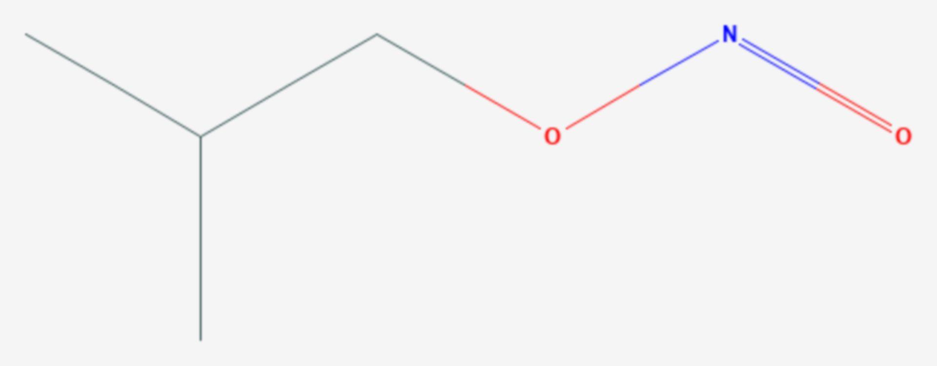 Isobutylnitrit (Strukturformel)