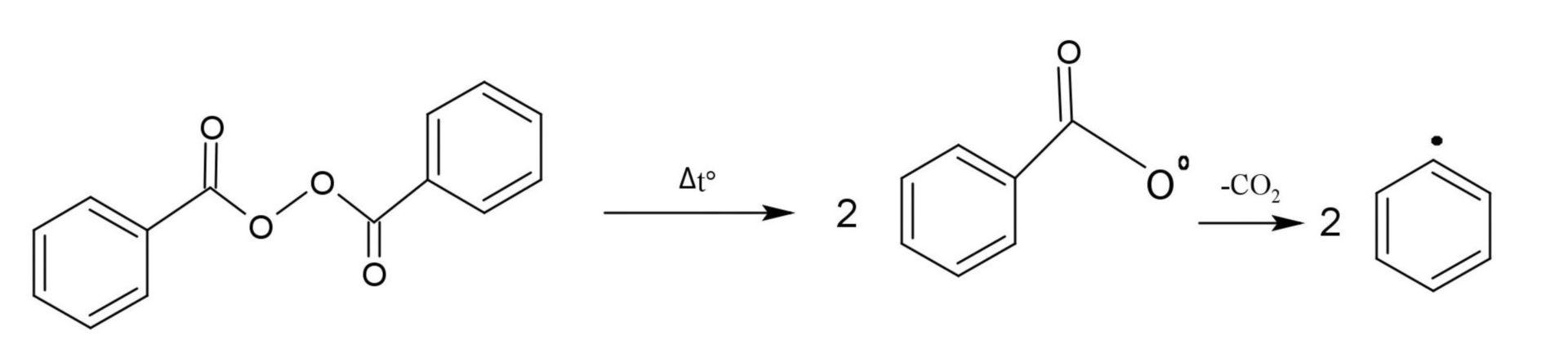 1. Teilschritt der Hock'schen Phenolsynthese (Radikalerzeugung)