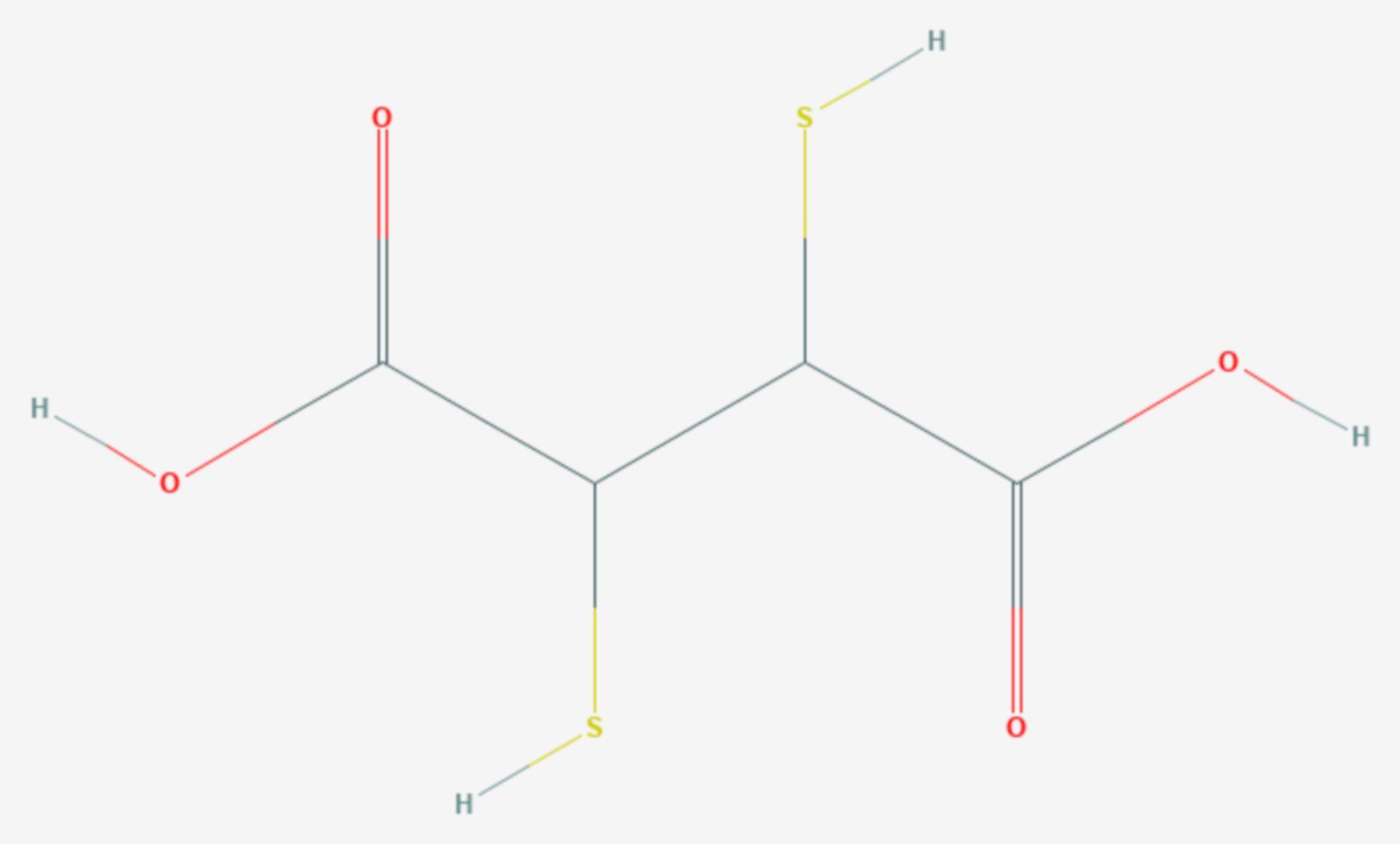 Dimercaptobernsteinsäure (Strukturformel)