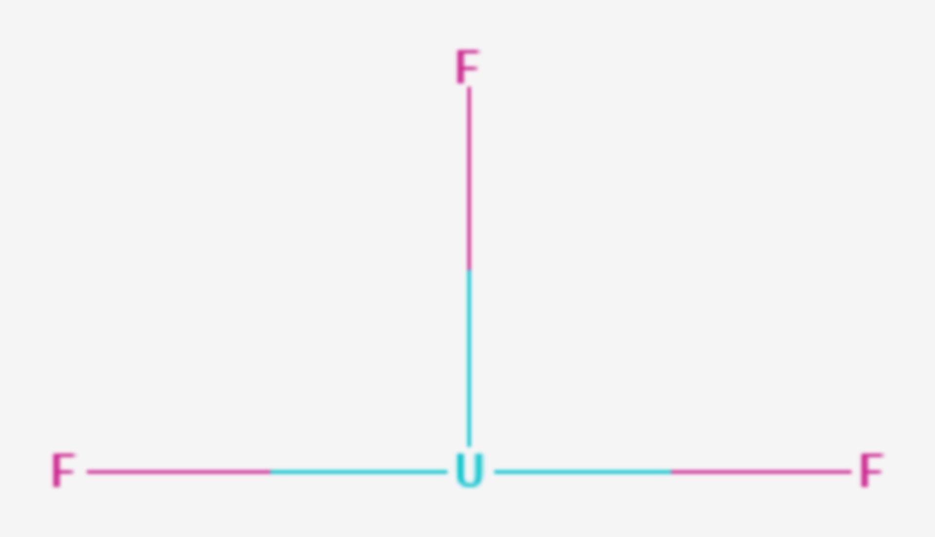 Uran(III)-fluorid (Strukturformel)
