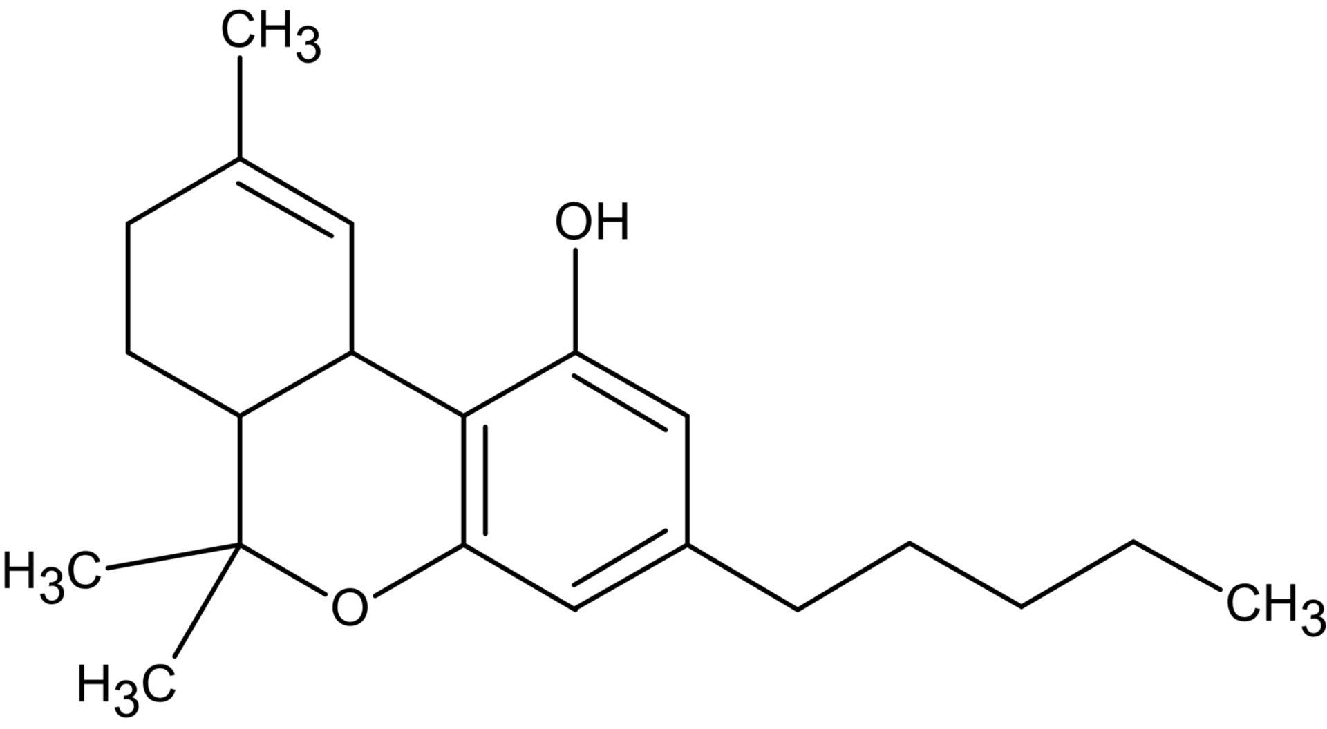 Strukturformel Tetrahydrocannabinol