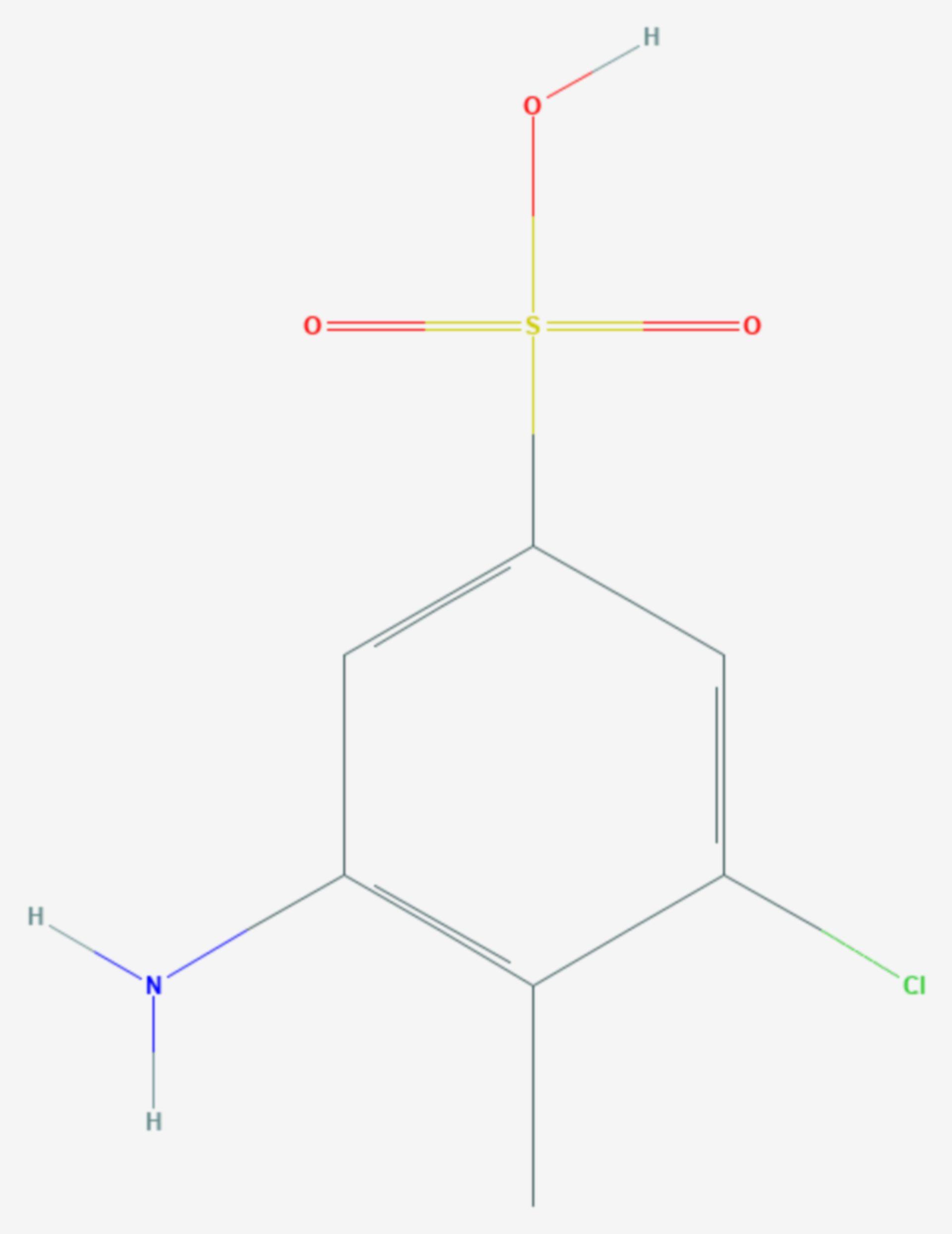 2-Amino-6-chlortoluol-4-sulfonsäure (Strukturformel)