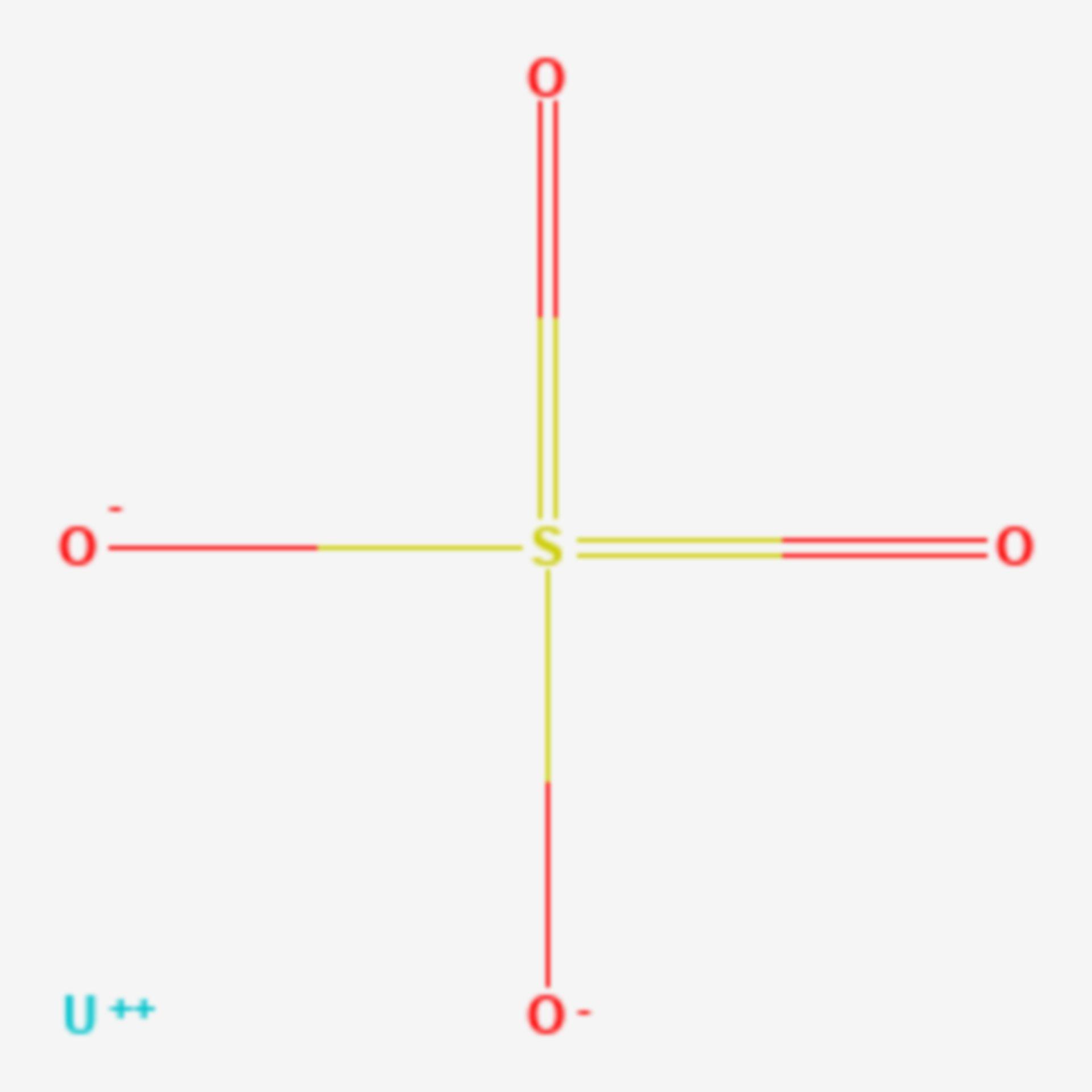 Uran(IV)-sulfat (Strukturformel)