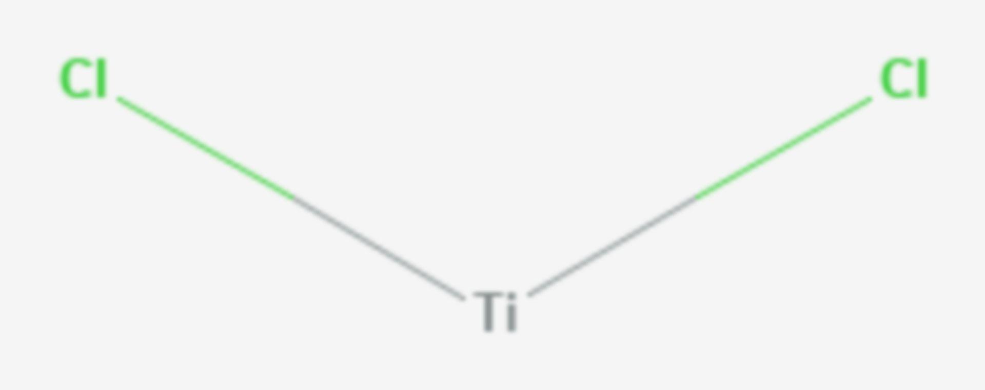 Titan(II)-chlorid (Strukturformel)