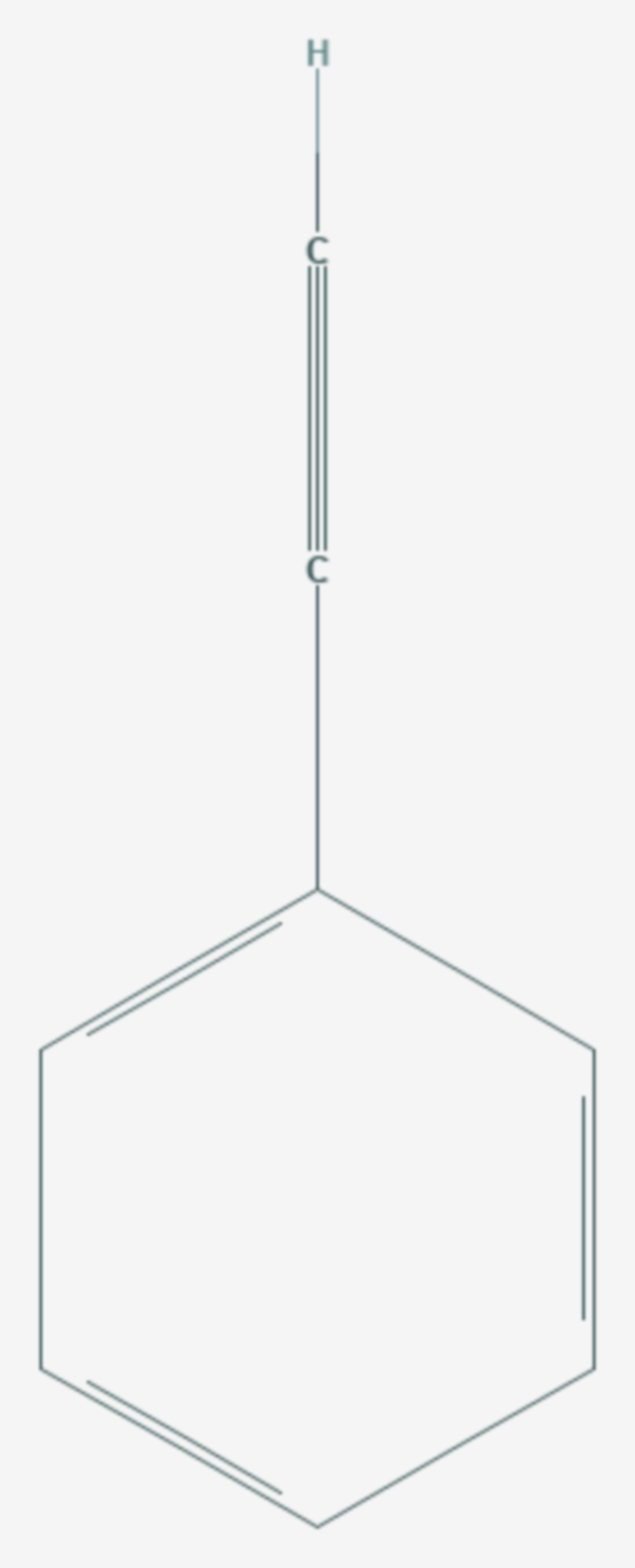 Phenylacetylen (Strukturformel)