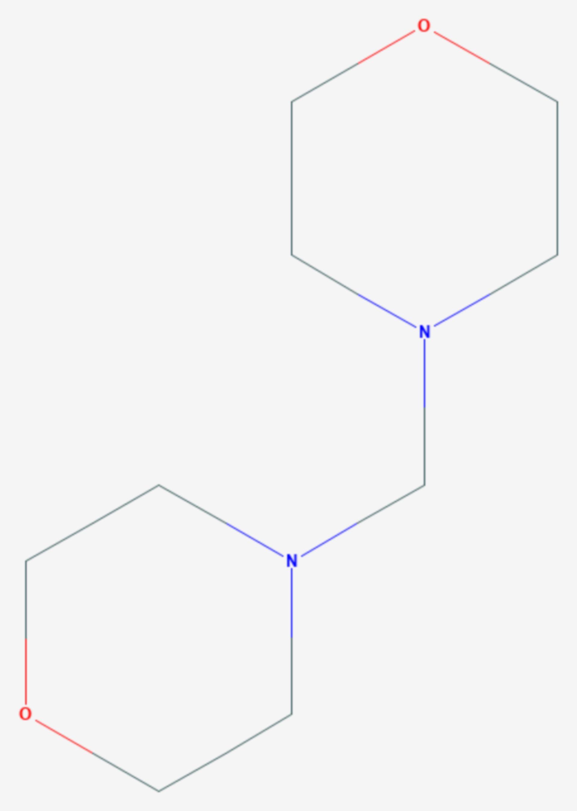 Bis(morpholino)methan (Strukturformel)