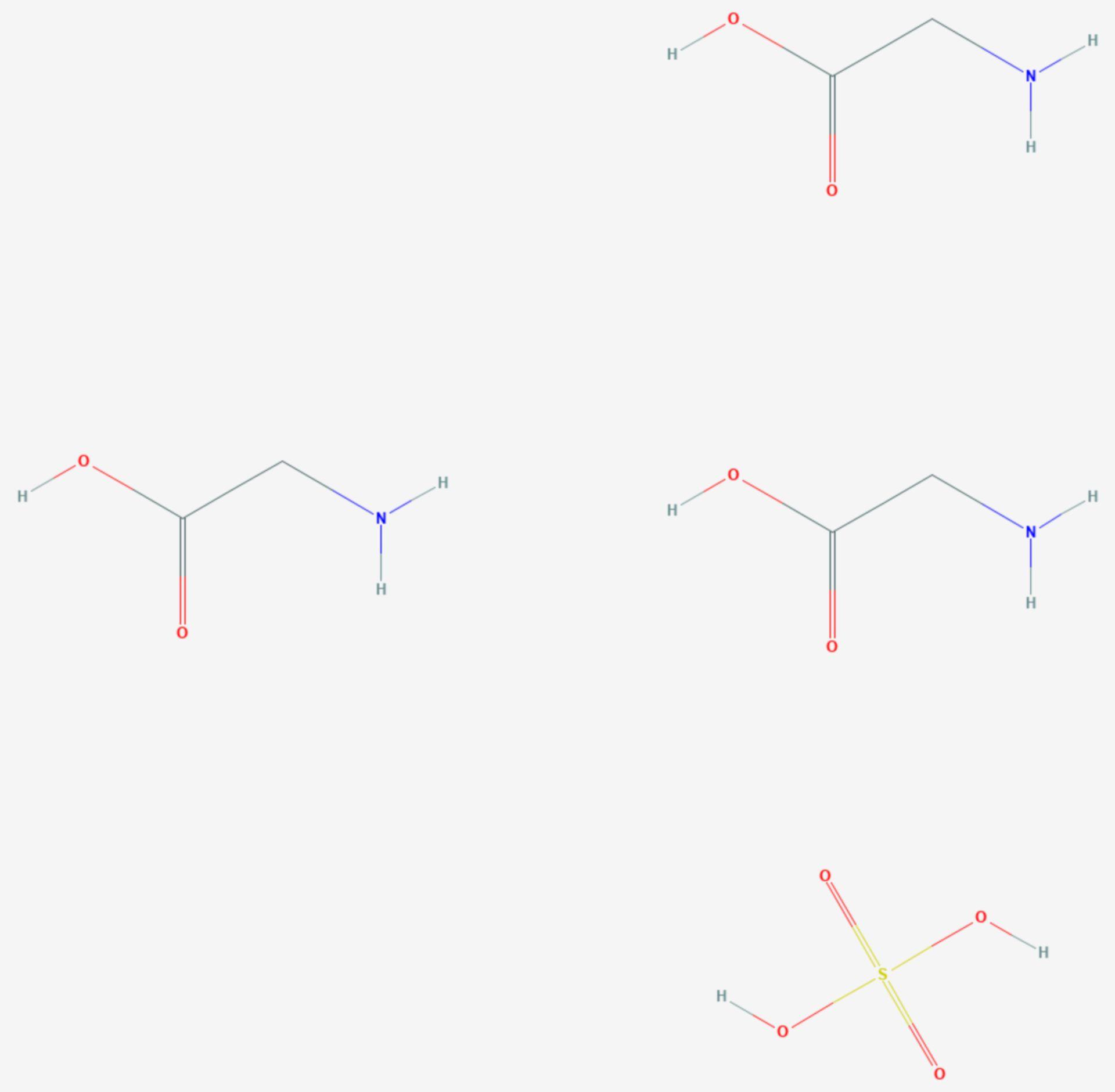 Triglycinsulfat (Strukturformel)