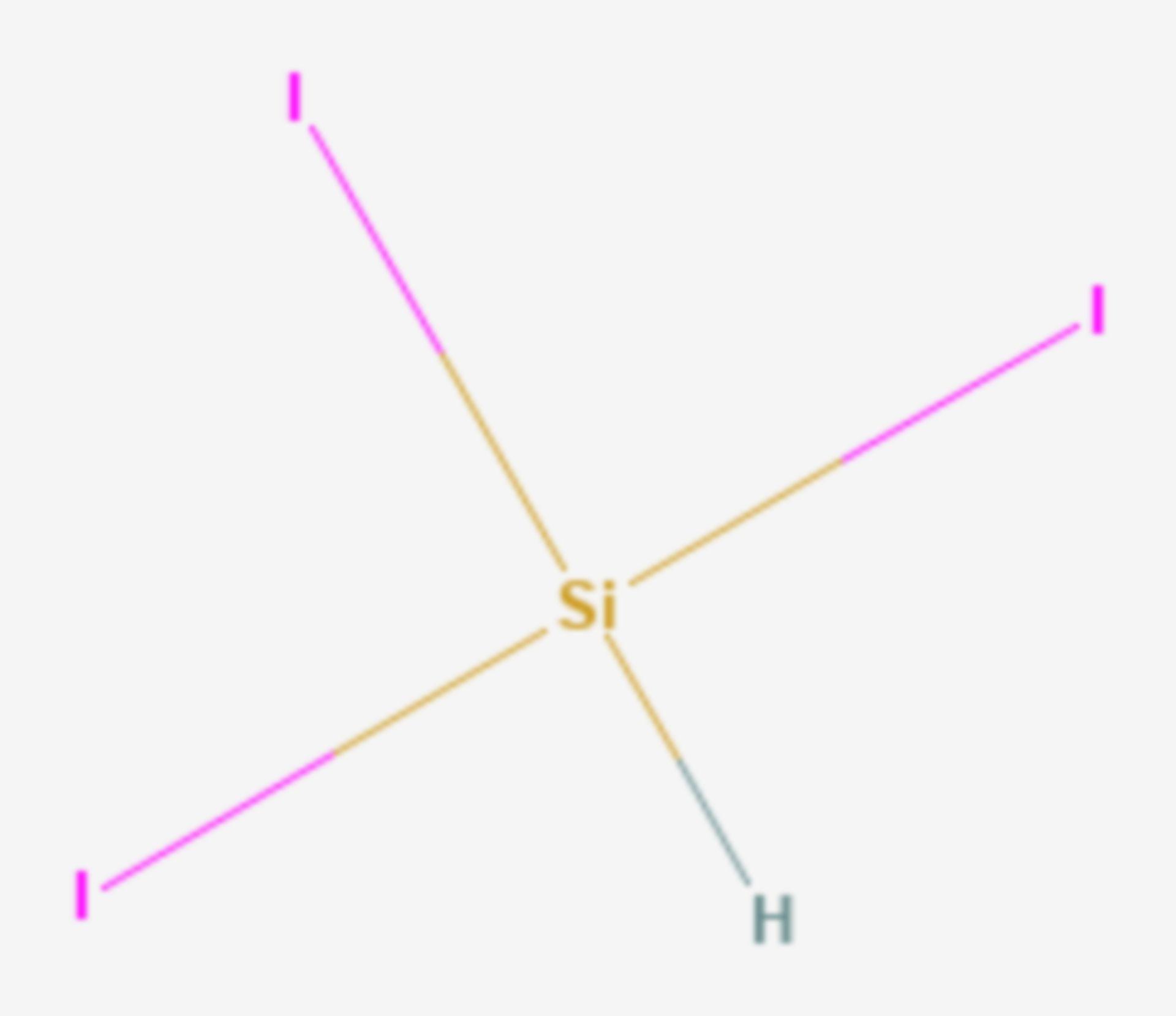 Triiodsilan (Strukturformel)
