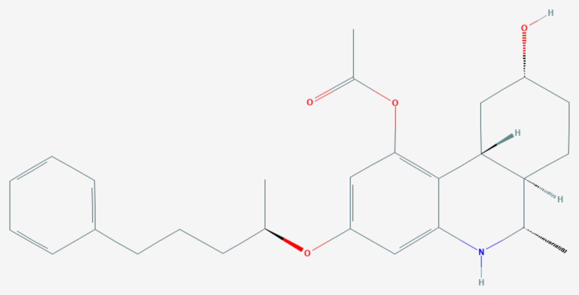 Levonantradol (Strukturformel)