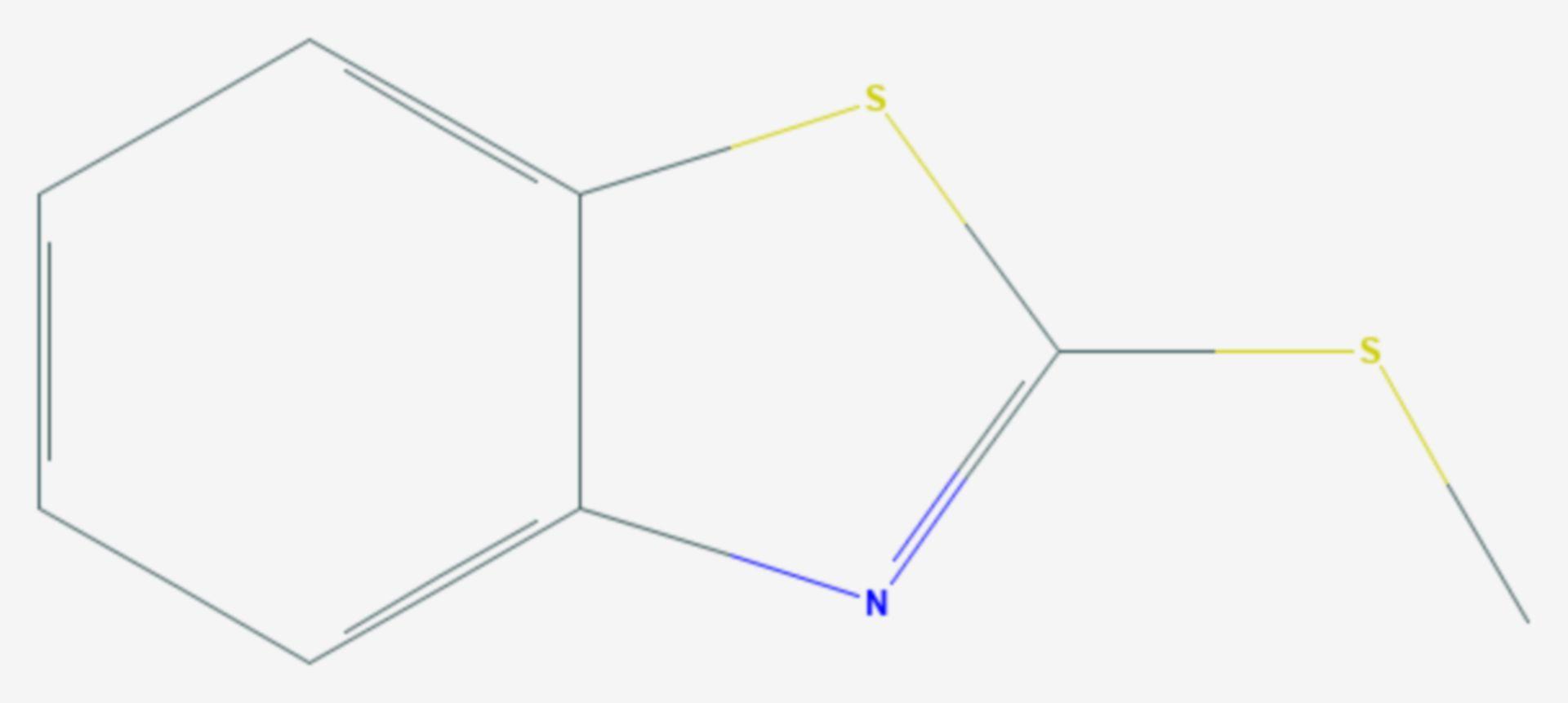 2-Methylthiobenzthiazol (Strukturformel)