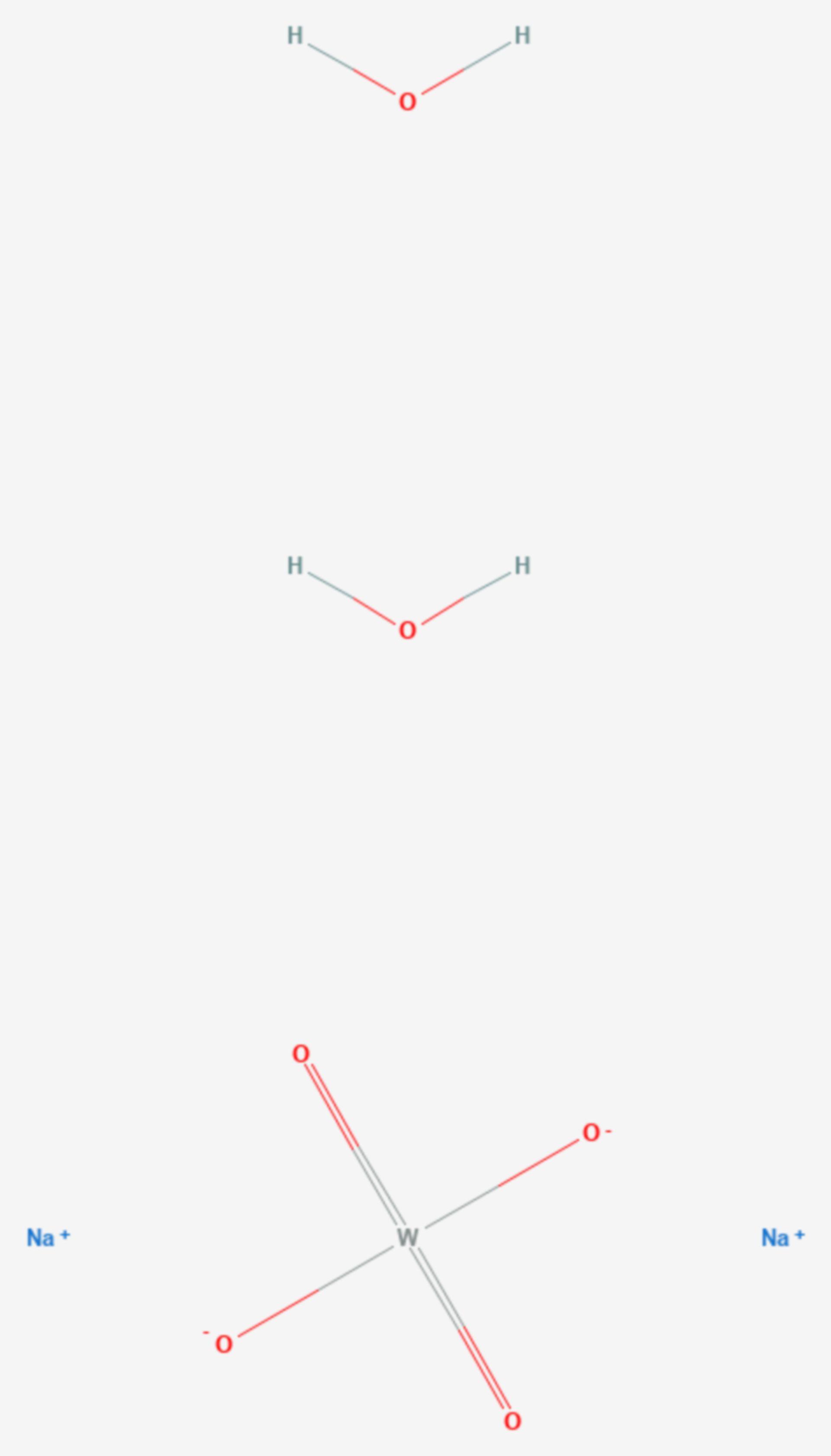 Natriumwolframat (Strukturformel)
