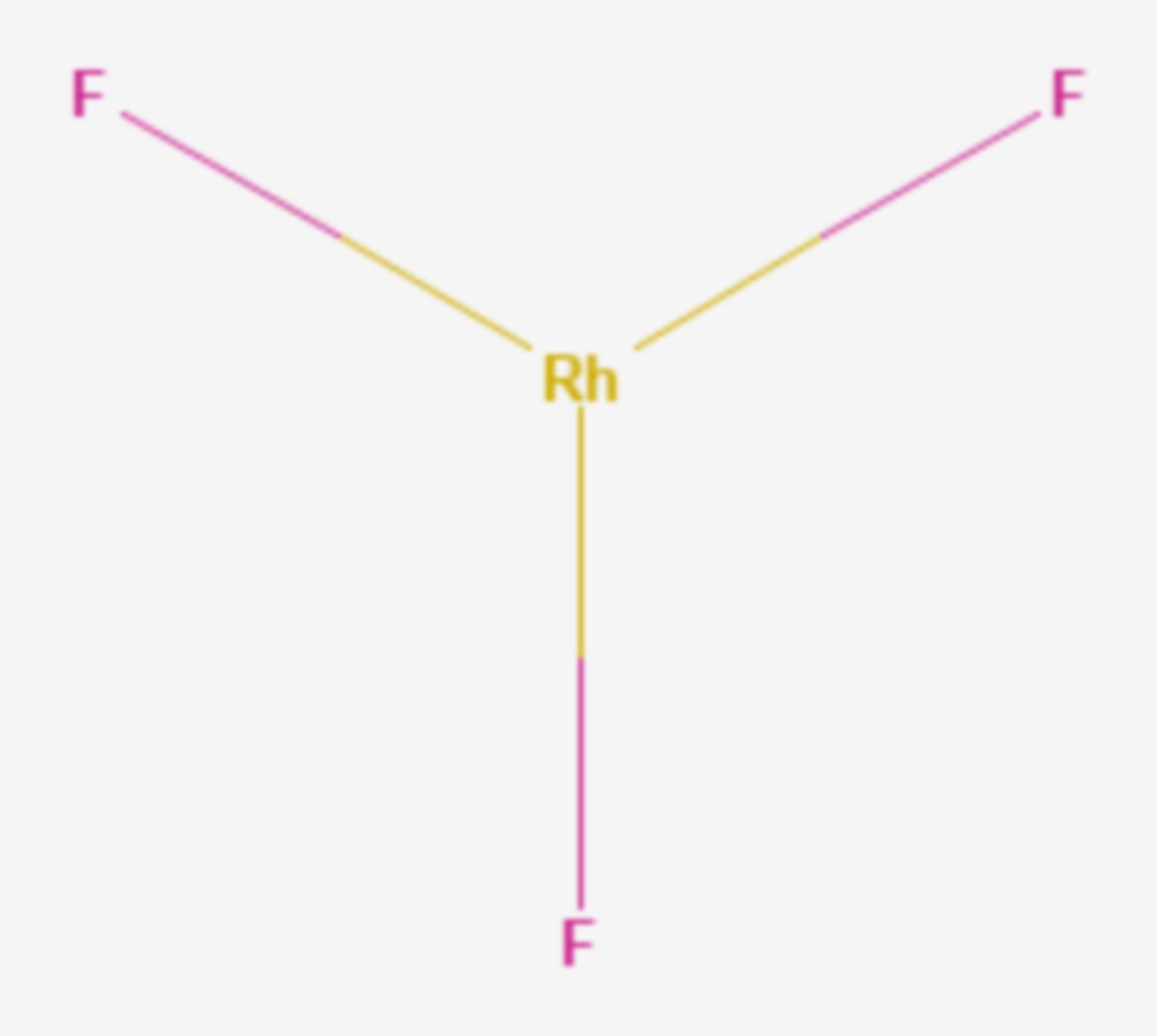 Rhodium(III)-fluorid (Strukturformel)