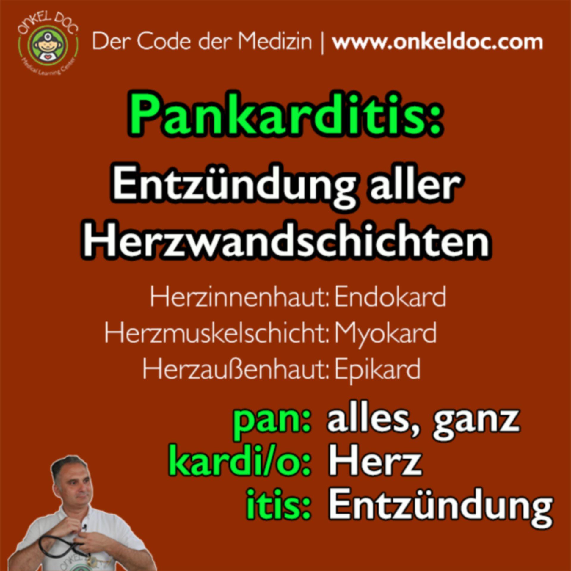 Der Code der Pankarditis
