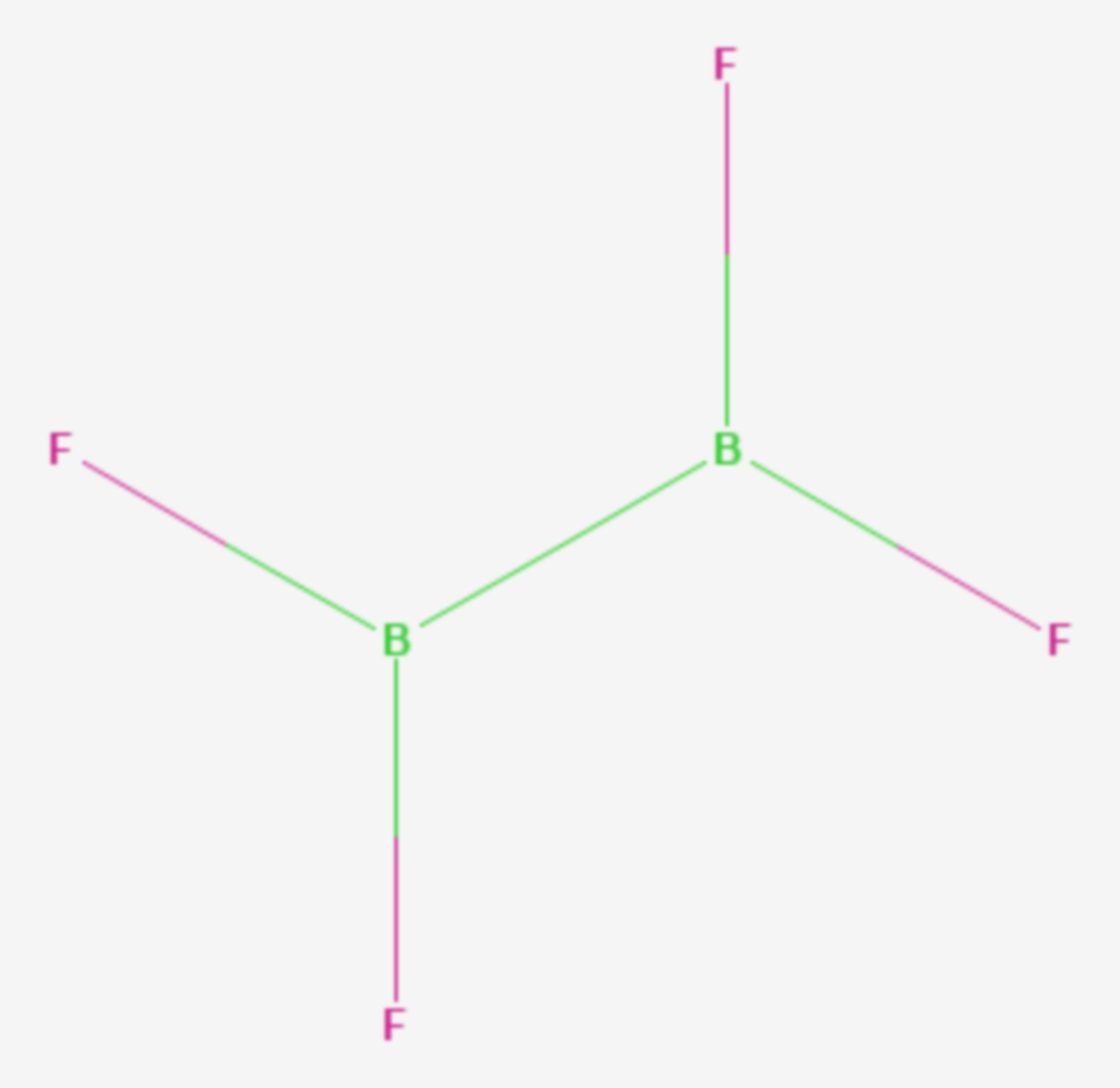 Dibortetrafluorid (Strukturformel)