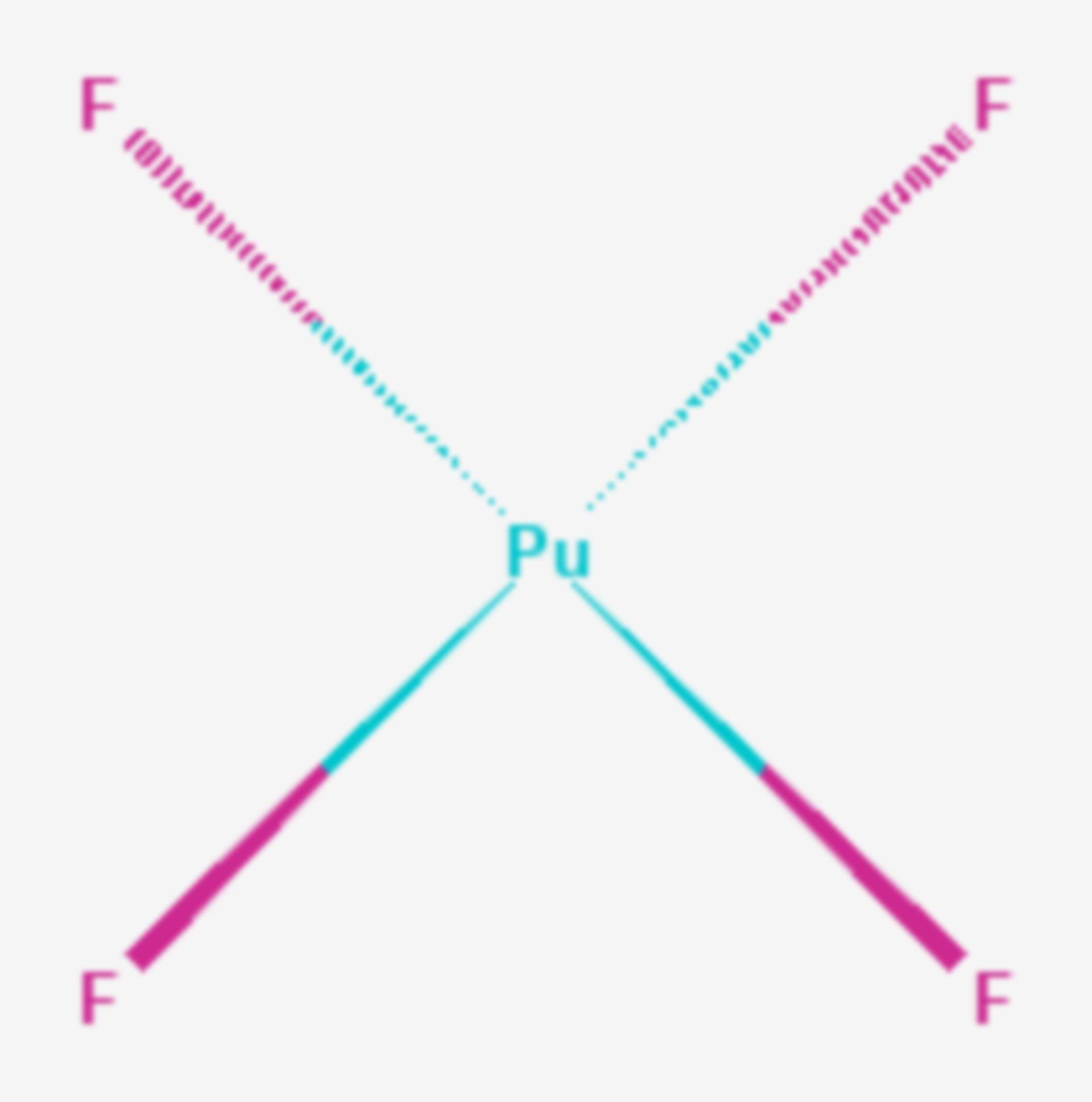 Plutonium(IV)-fluorid (Strukturformel)