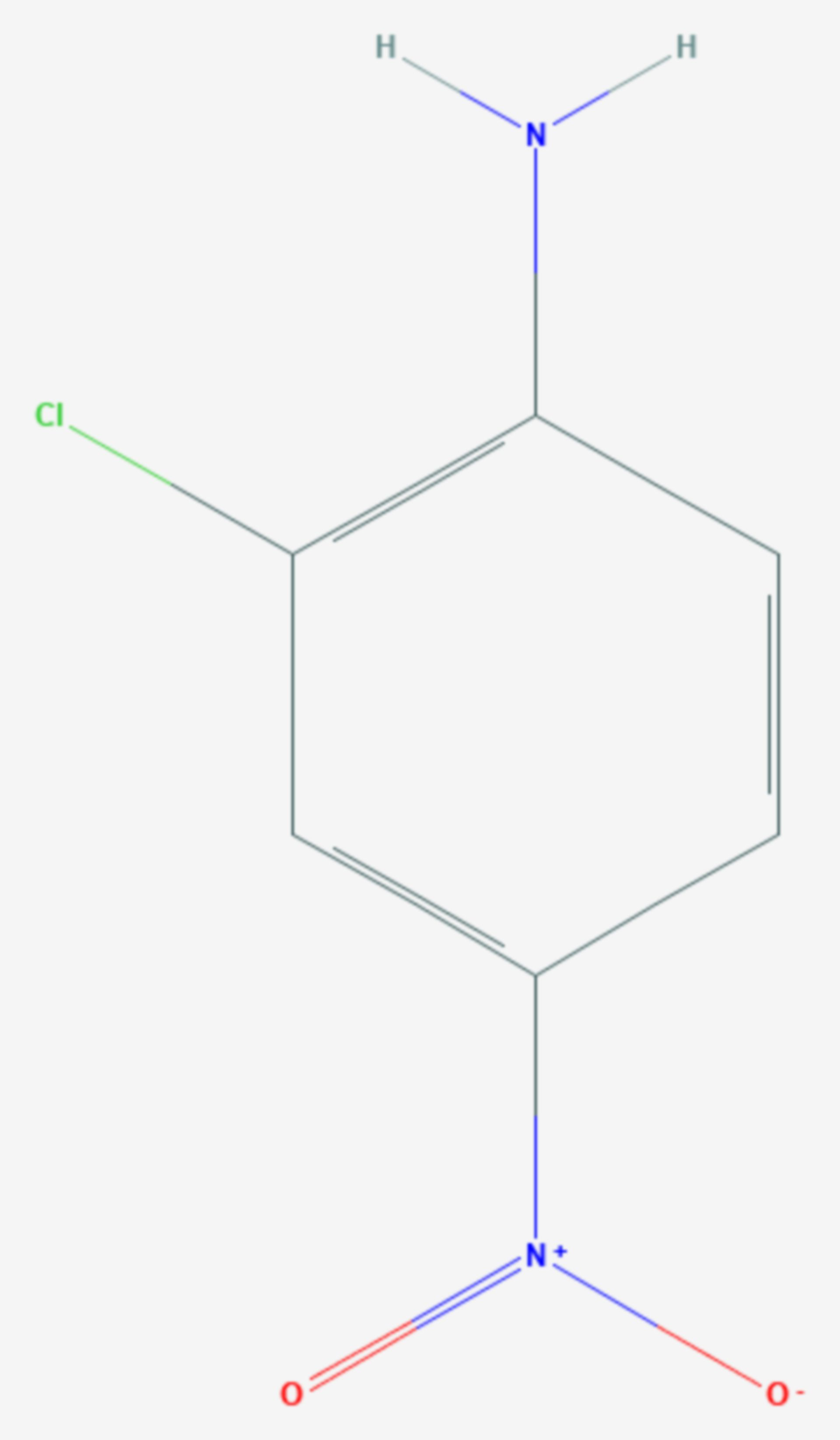 2-Chlor-4-nitroanilin (Strukturformel)
