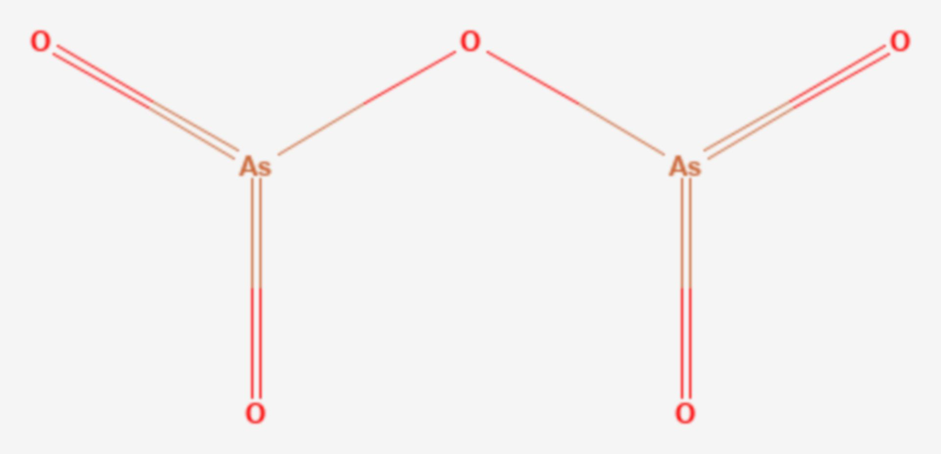 Arsen(V)-oxid (Strukturformel)