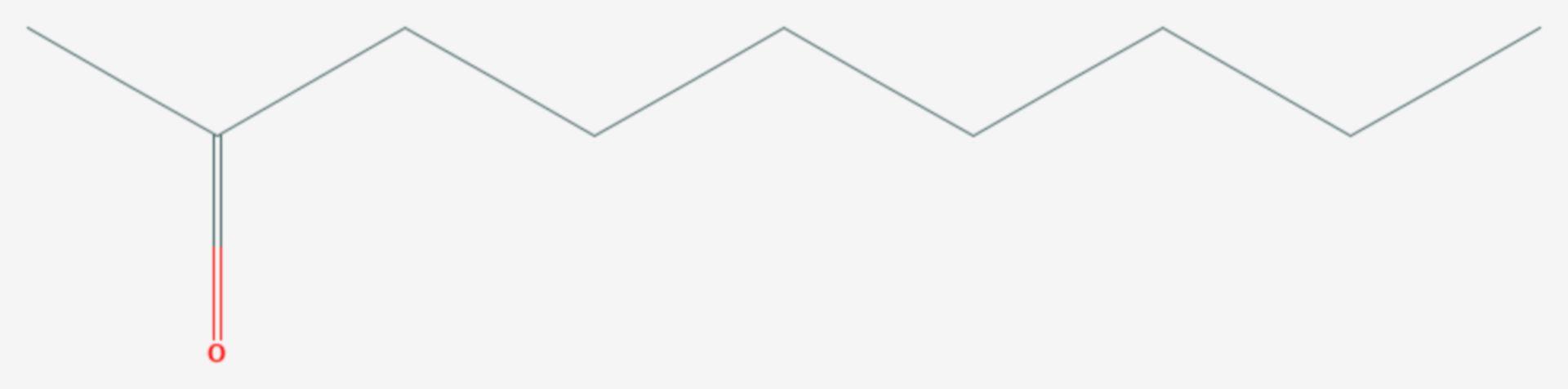 2-Nonanon (Strukturformel)