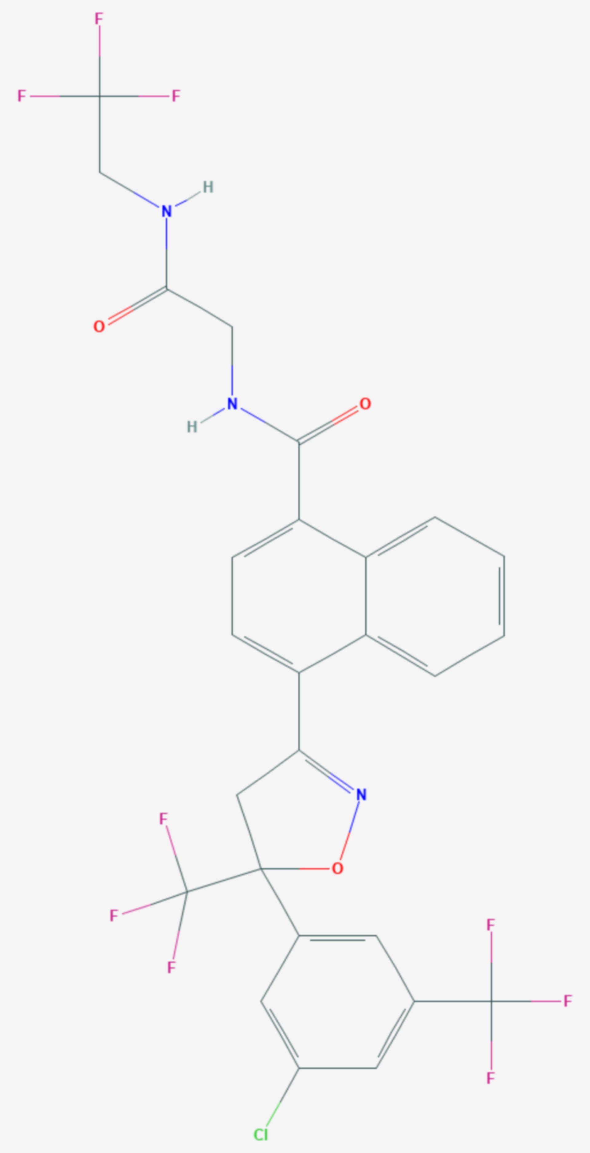 Afoxolaner (Strukturformel)