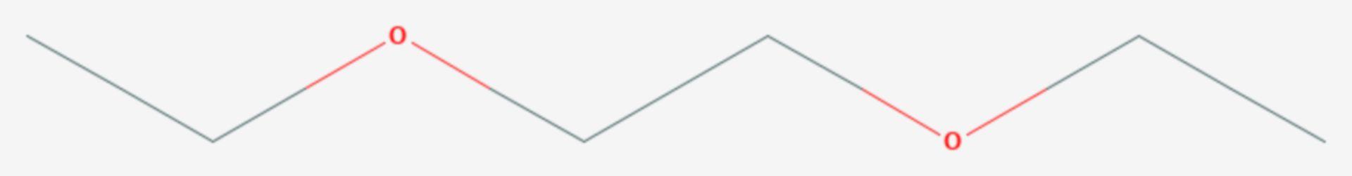 Ethylenglycoldiethylether (Strukturformel)