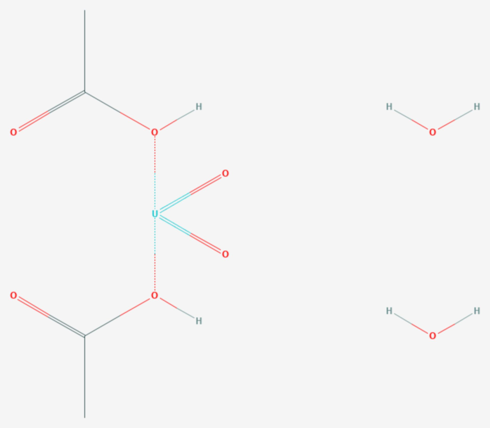 Uranylacetat (Strukturformel)