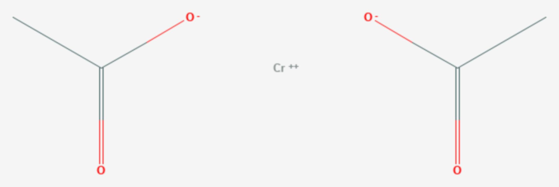 Chrom(II)-acetat (Strukturformel)