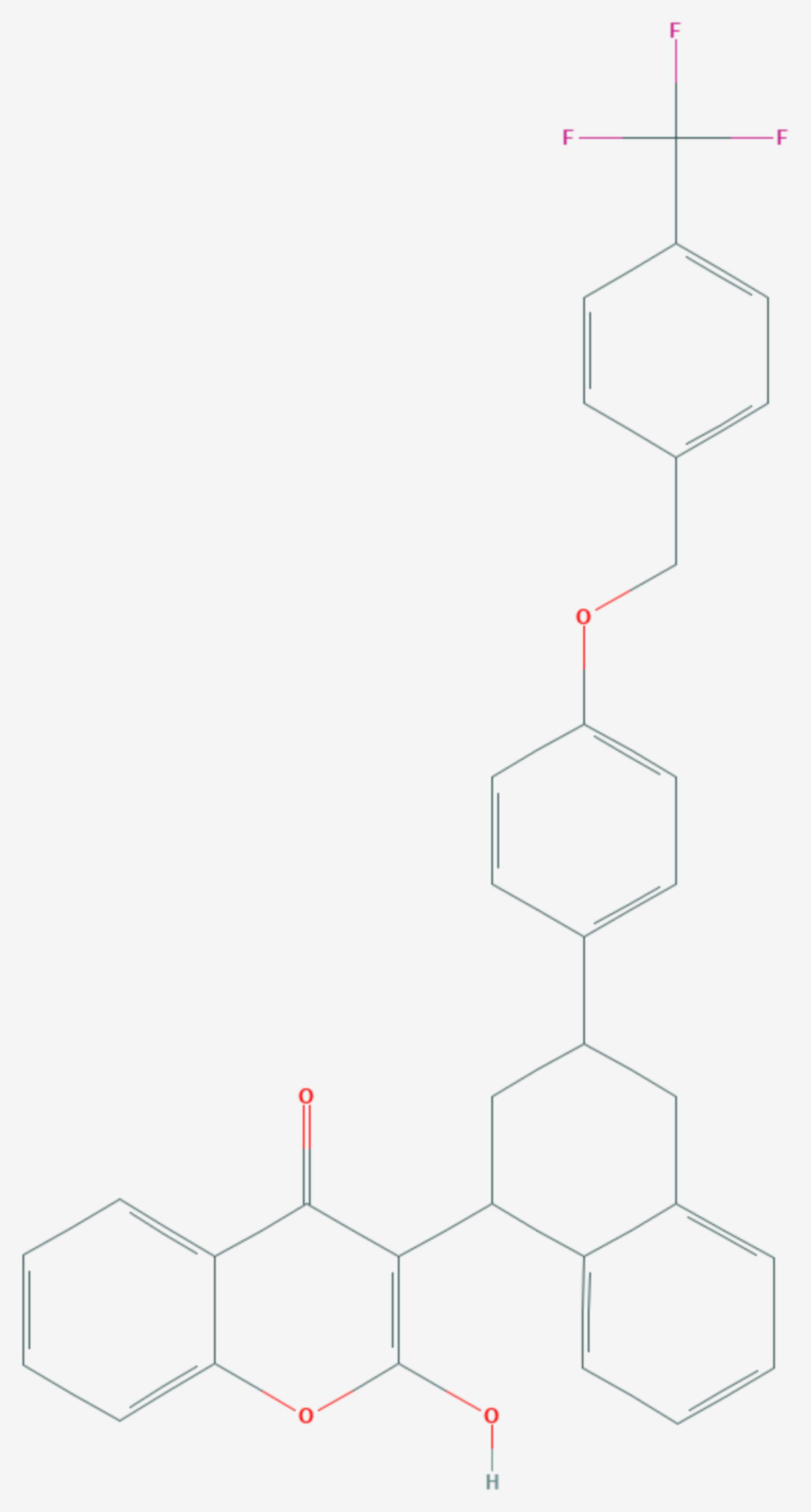 Flocoumafen (Strukturformel)