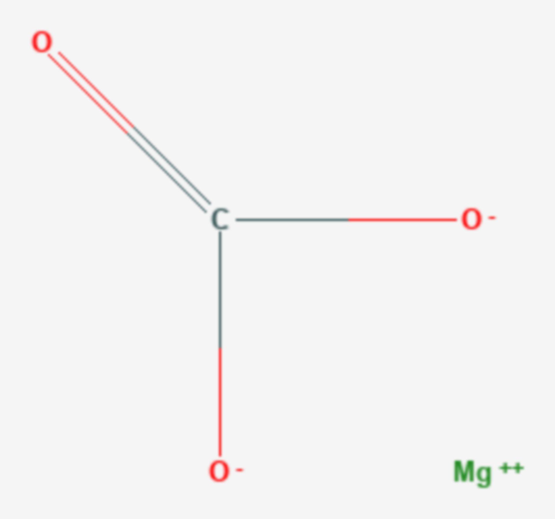 Magnesiumcarbonat (Strukturformel)
