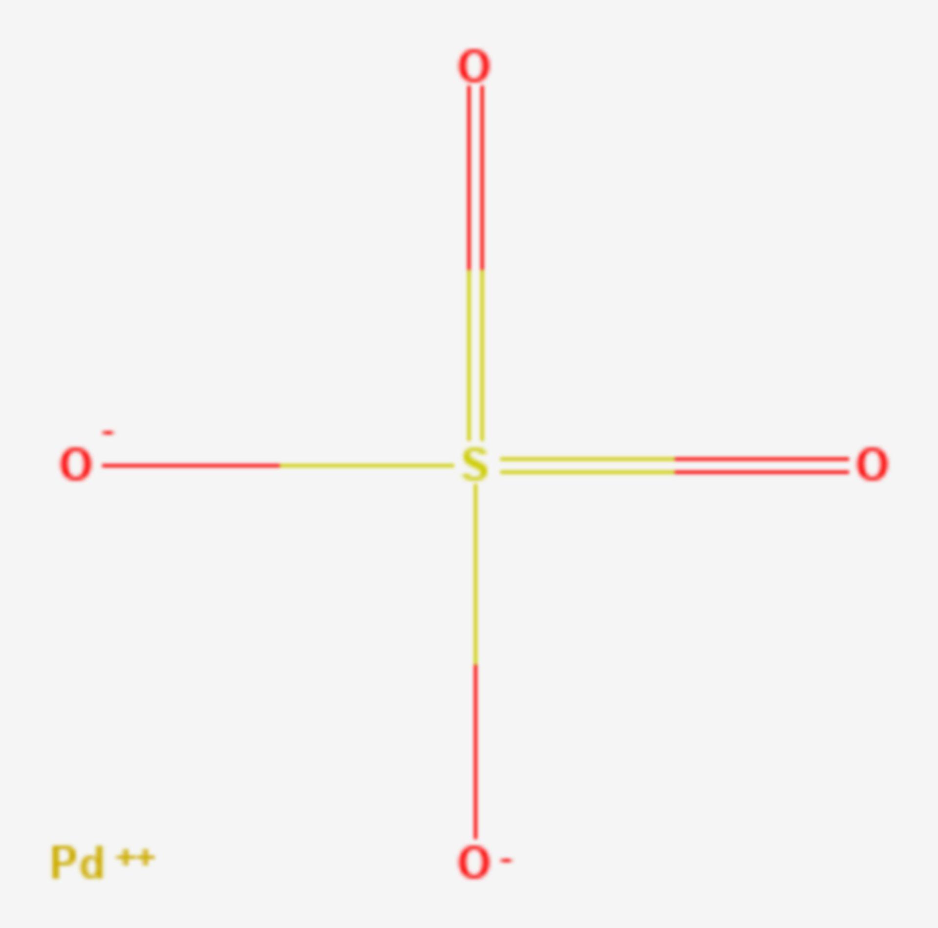 Palladium(II)-sulfat (Strukturformel)