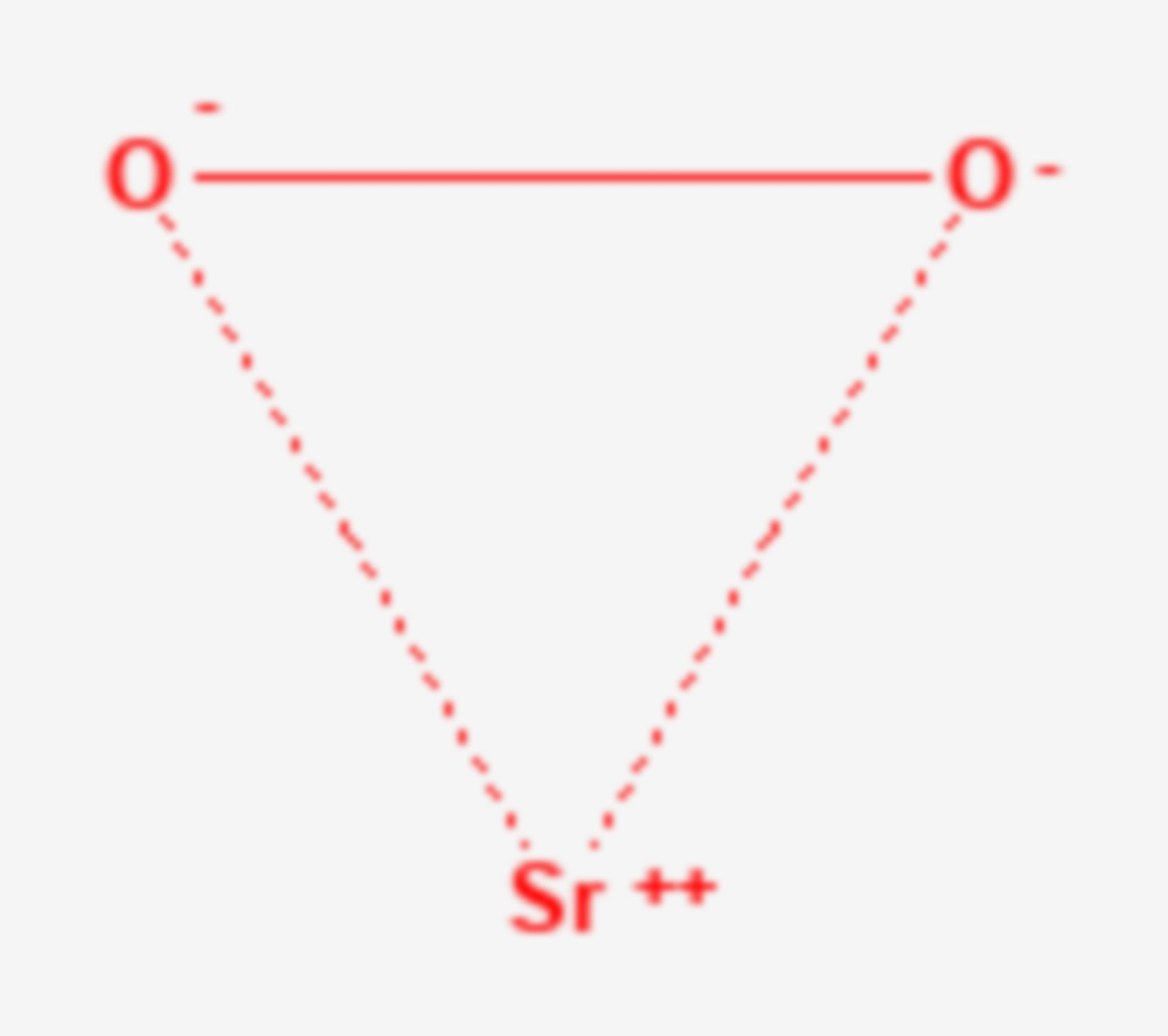 Strontiumperoxid (Strukturformel)