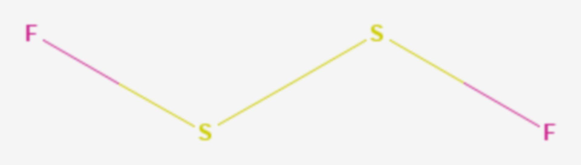 Difluordisulfan (Strukturformel)