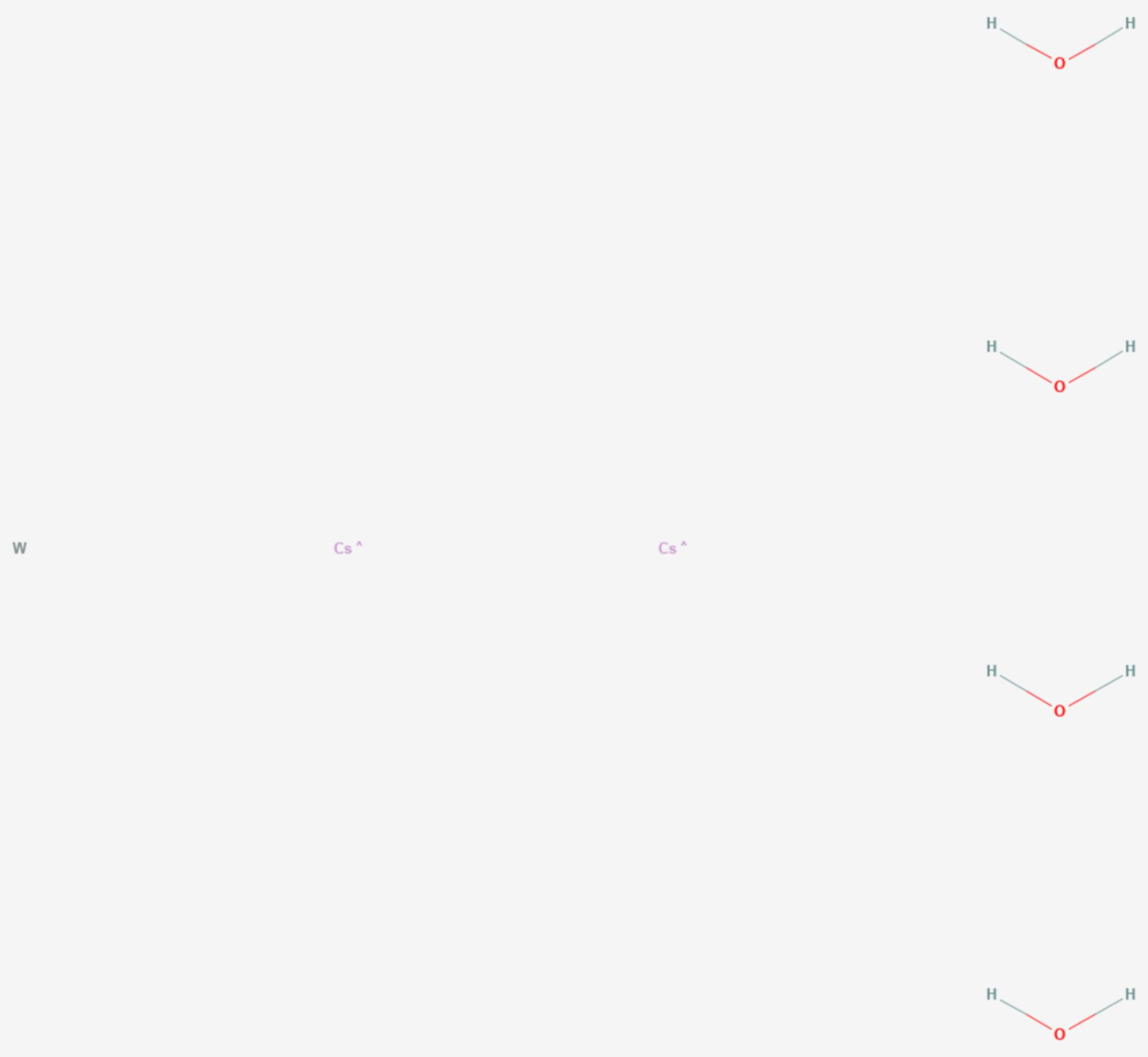 Caesiumwolframat (Strukturformel)