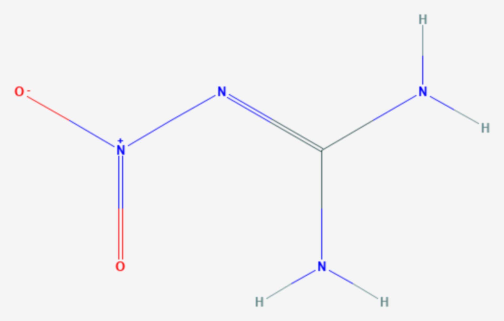 Nitroguanidin (Strukturformel)