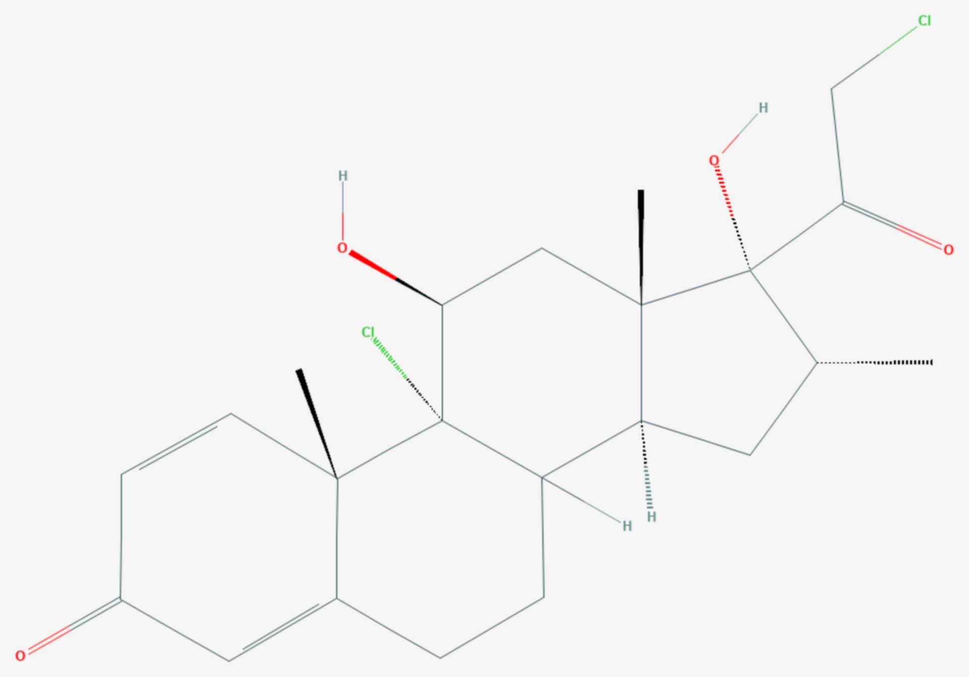 Mometasonfuroat (Strukturformel)