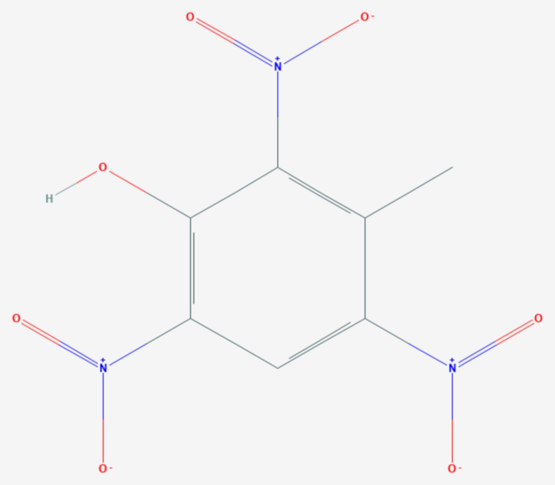2,4,6-Trinitro-m-kresol (Strukturformel)