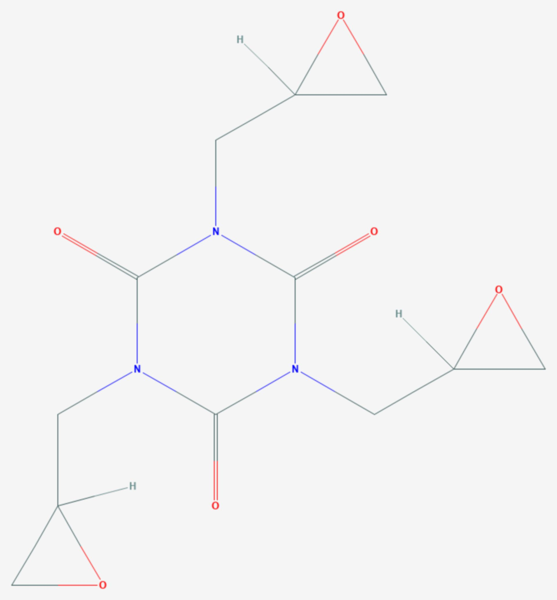 Triglycidylisocyanurat (Strukturformel)