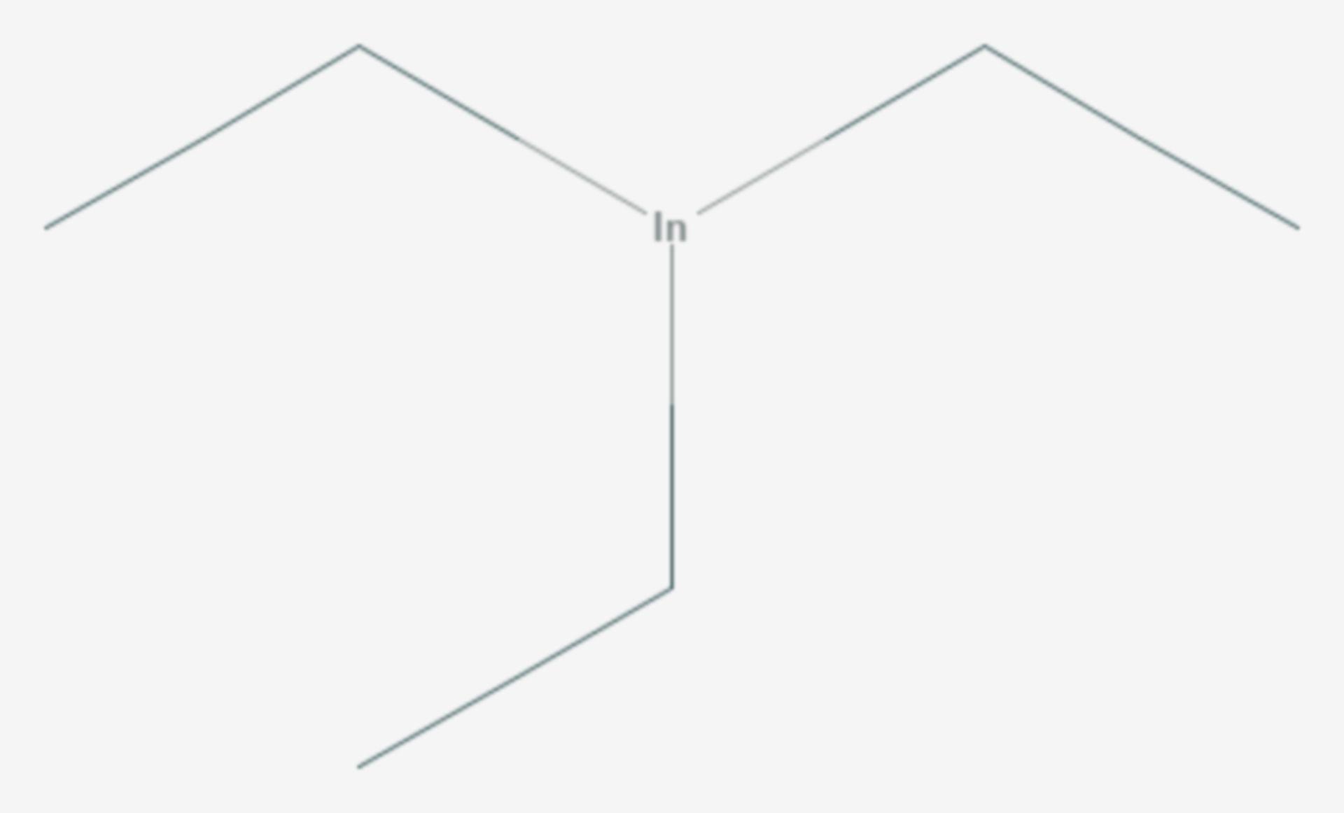 Indiumtriethyl (Strukturformel)