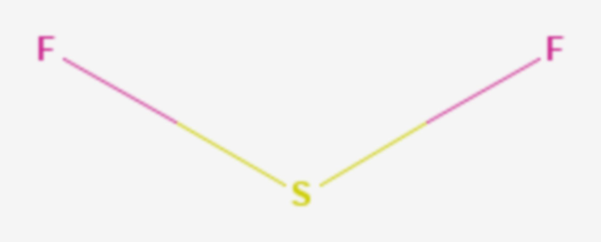 Schwefeldifluorid (Strukturformel)
