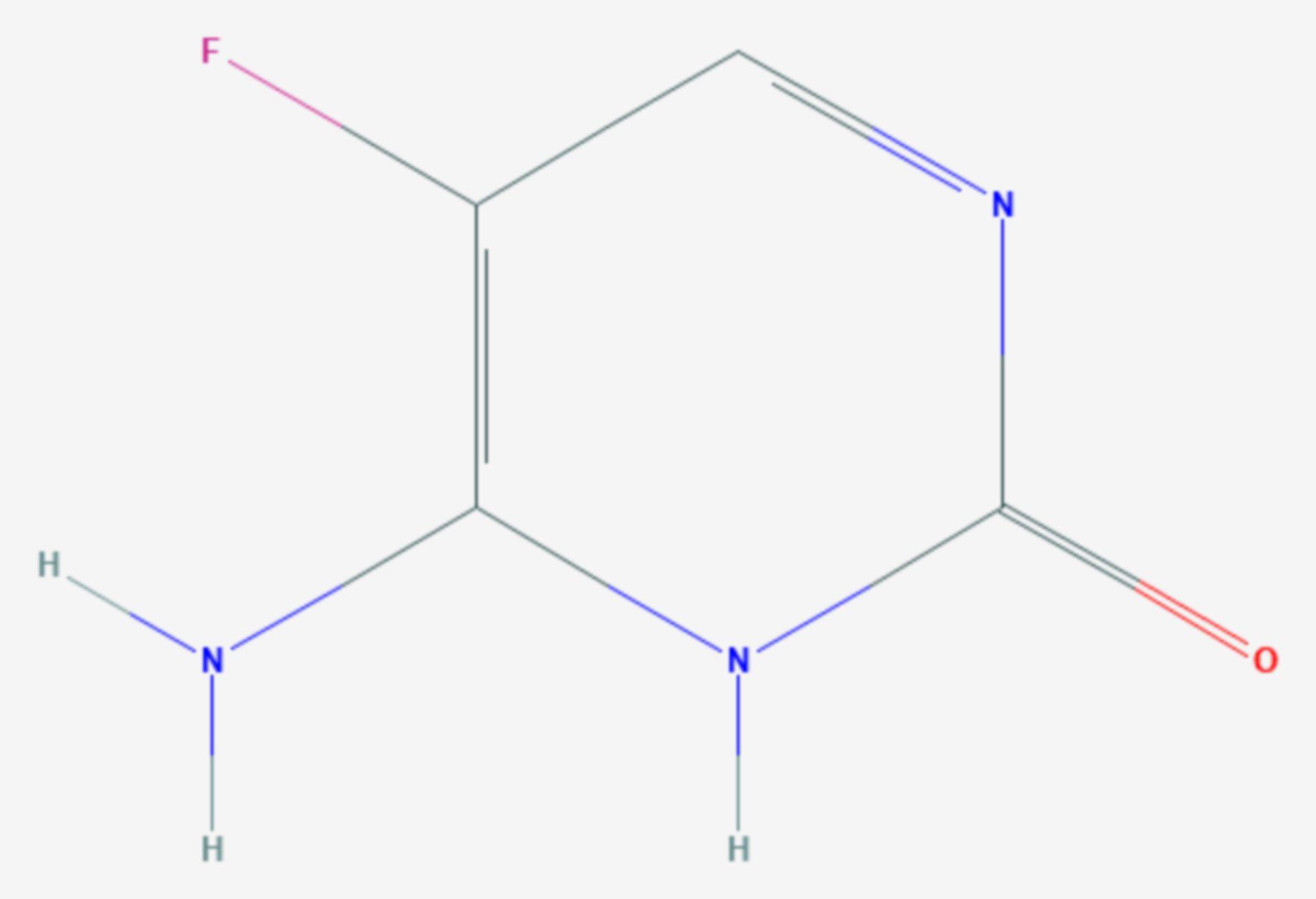 5-Fluorcytosin (Strukturformel)
