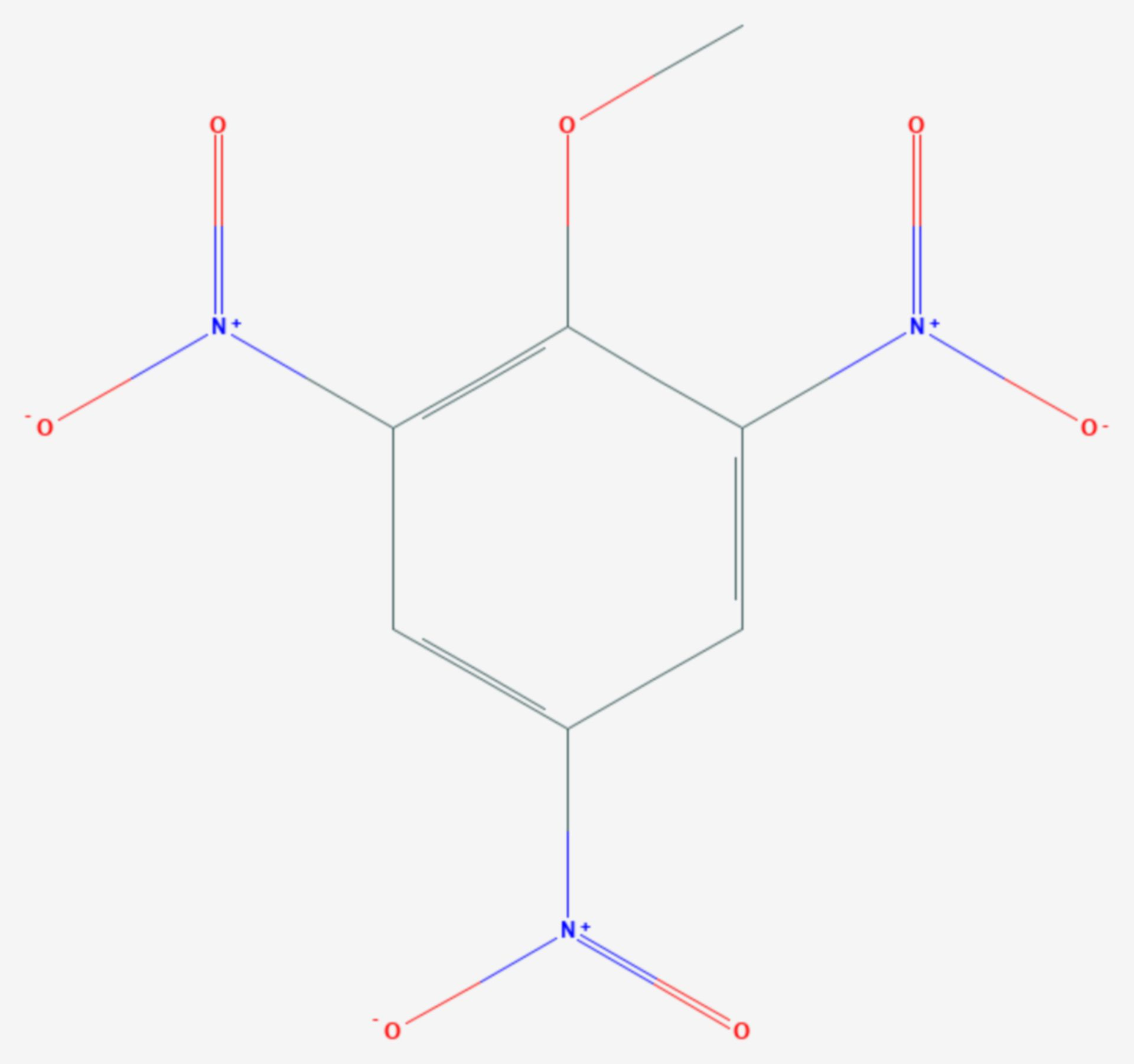Trinitroanisol (Strukturformel)