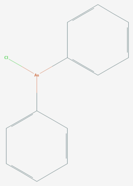 Diphenylarsinchlorid (Strukturformel)