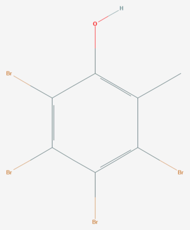 Tetrabrom-o-kresol (Strukturformel)