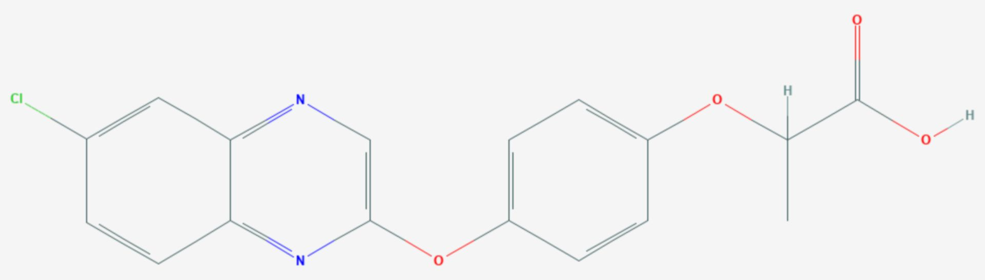Quizalofop (Strukturformel)