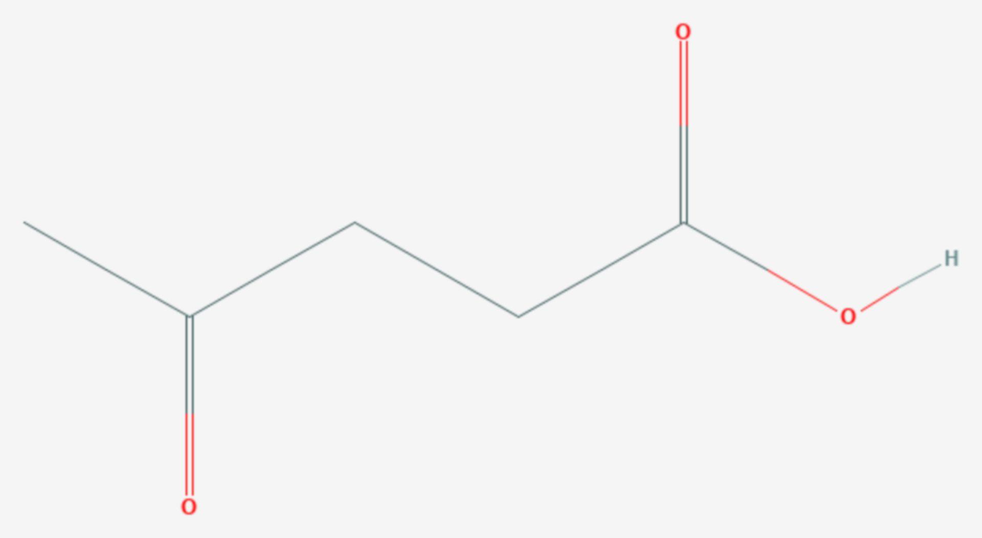 Lävulinsäure (Strukturformel)