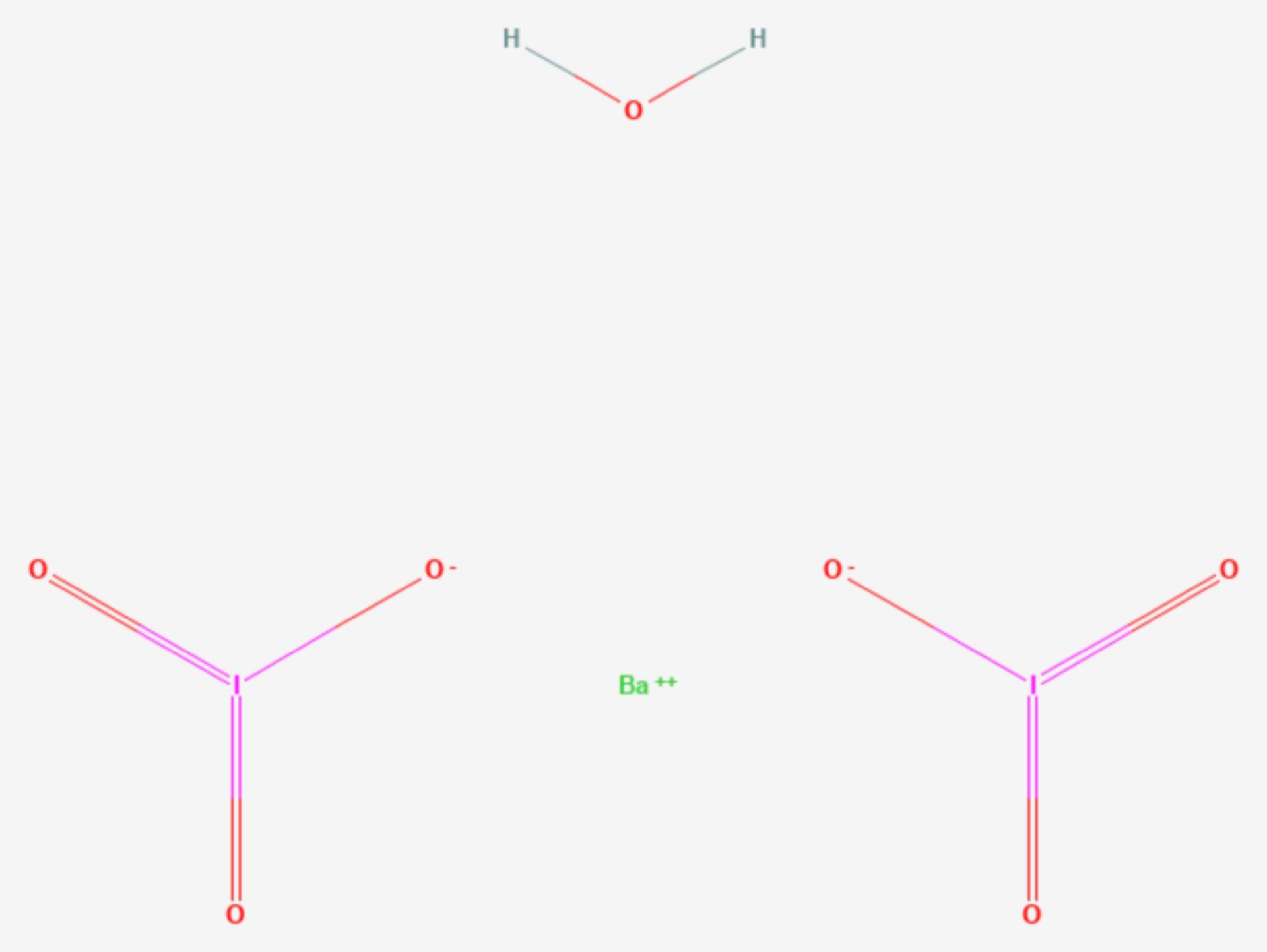 Bariumiodat (Strukturformel)