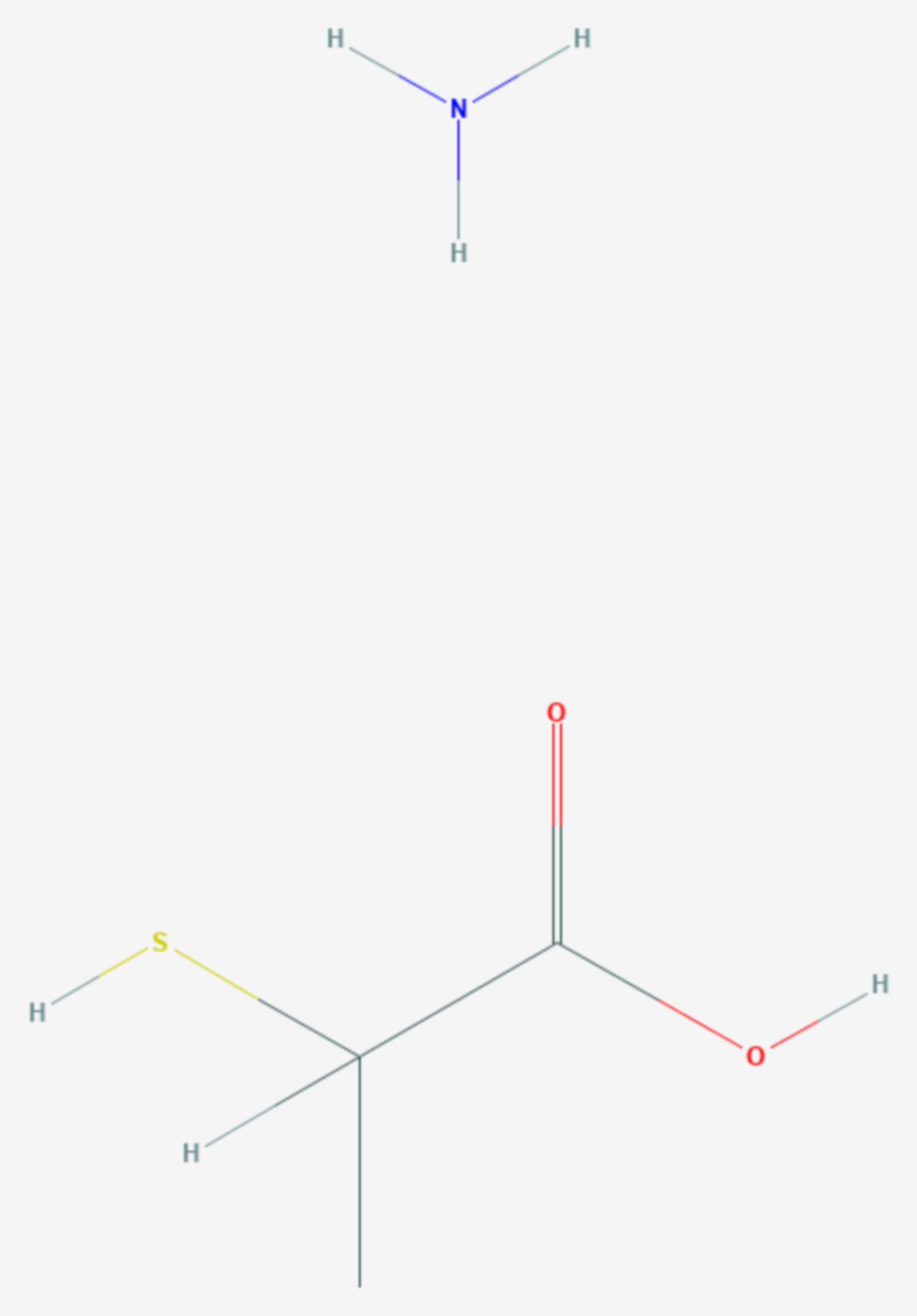 2-Mercaptopropionsäure (Strukturformel)
