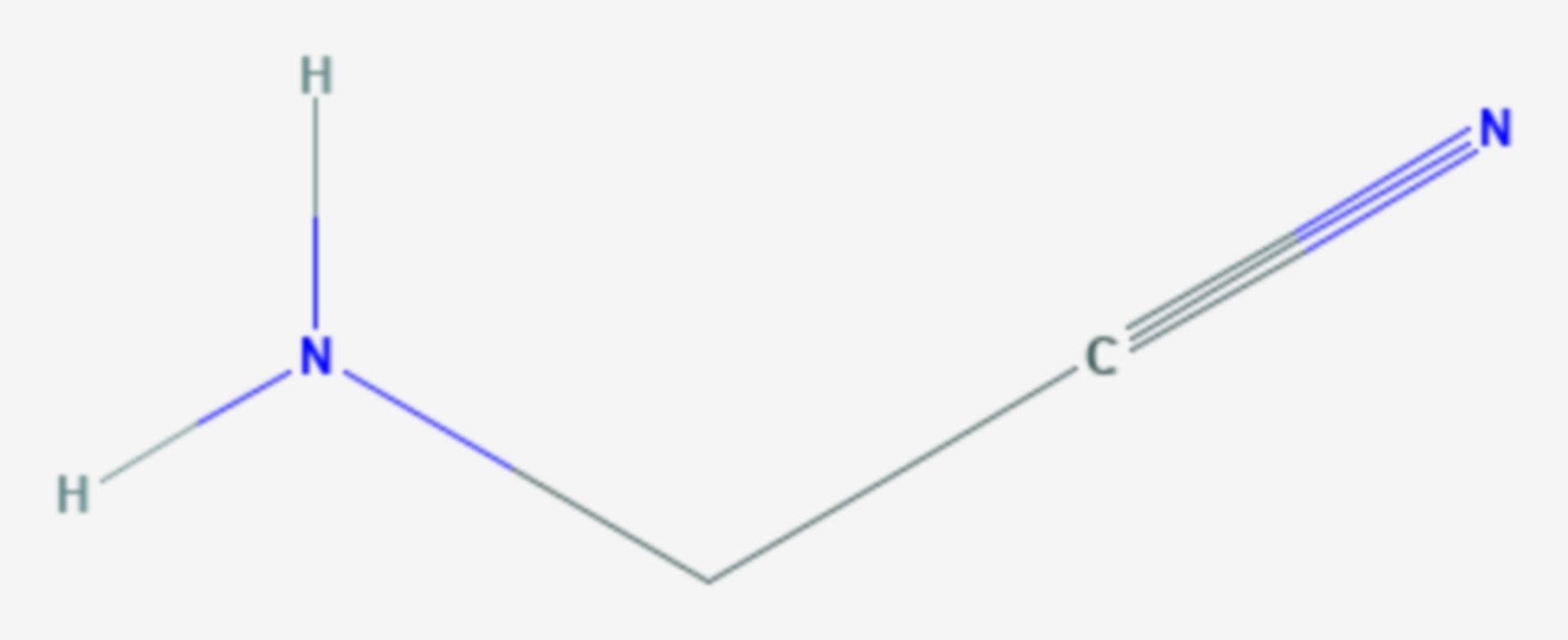 Aminoacetonitril (Strukturformel)